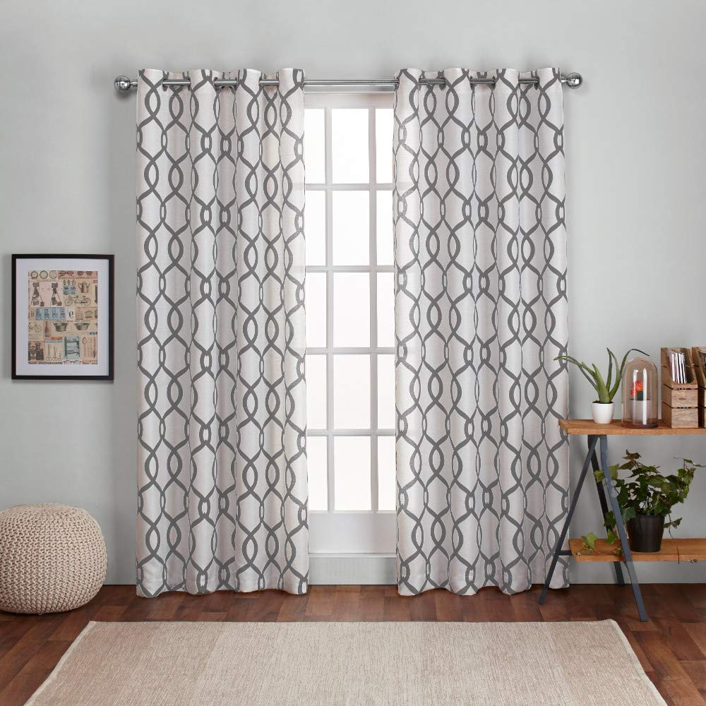 Featured Photo of Kochi Linen Blend Window Grommet Top Curtain Panel Pairs