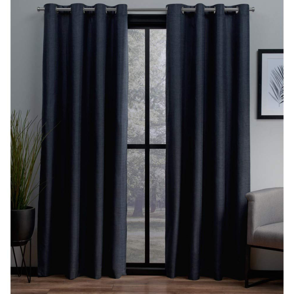 Exclusive Home Curtains London Woven Blackout Grommet Top Panel Pair,  Peacoat Blue, 52X63, 2 Piece Intended For Fashionable London Blackout Panel Pair (View 1 of 20)