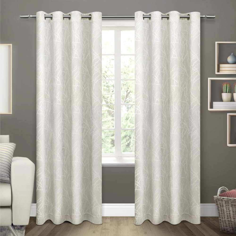Exclusive Home Curtains Twig Insulated Blackout Window Curtain Panel Pair With Grommet Top, 54x108, Vanilla, 2 Piece Within Famous Insulated Blackout Grommet Window Curtain Panel Pairs (View 6 of 20)