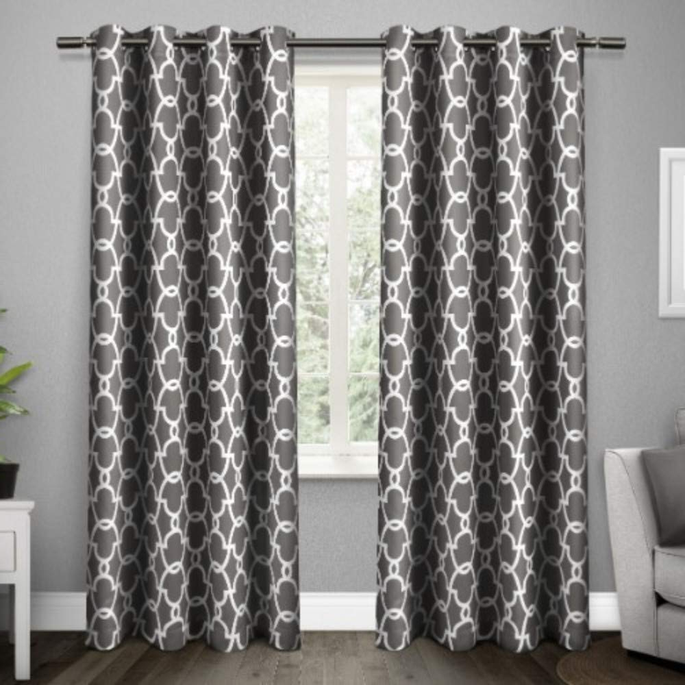 Exclusive Home Gates Sateen Woven Blackout Grommet Top Curtain Panel Pair, Black Pearl, 52x108 With Regard To Recent Thermal Woven Blackout Grommet Top Curtain Panel Pairs (View 6 of 20)