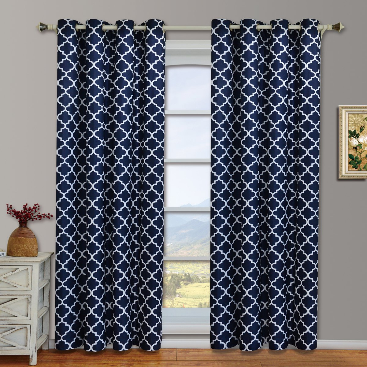 Famous Amazon: Modern & Elegant Meridian Blackout Top Grommet In Meridian Blackout Window Curtain Panels (Gallery 11 of 20)
