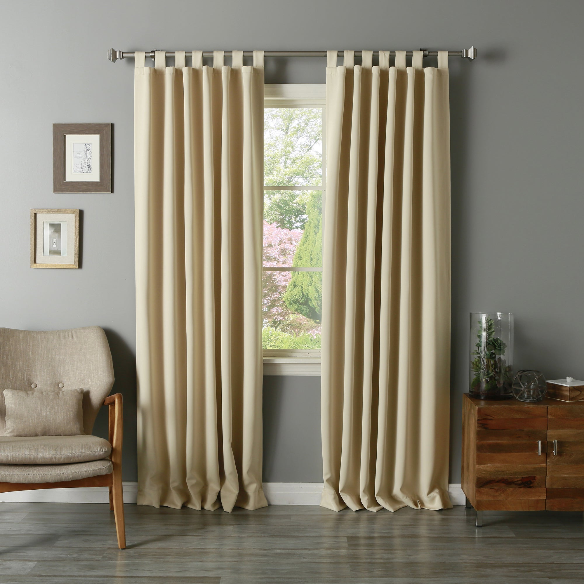 Famous Aurora Home Tab Top Thermal Insulated 95 Inch Blackout Curtain Panel Pair – 52 X 95 With Regard To Thermal Insulated Blackout Curtain Pairs (View 16 of 20)