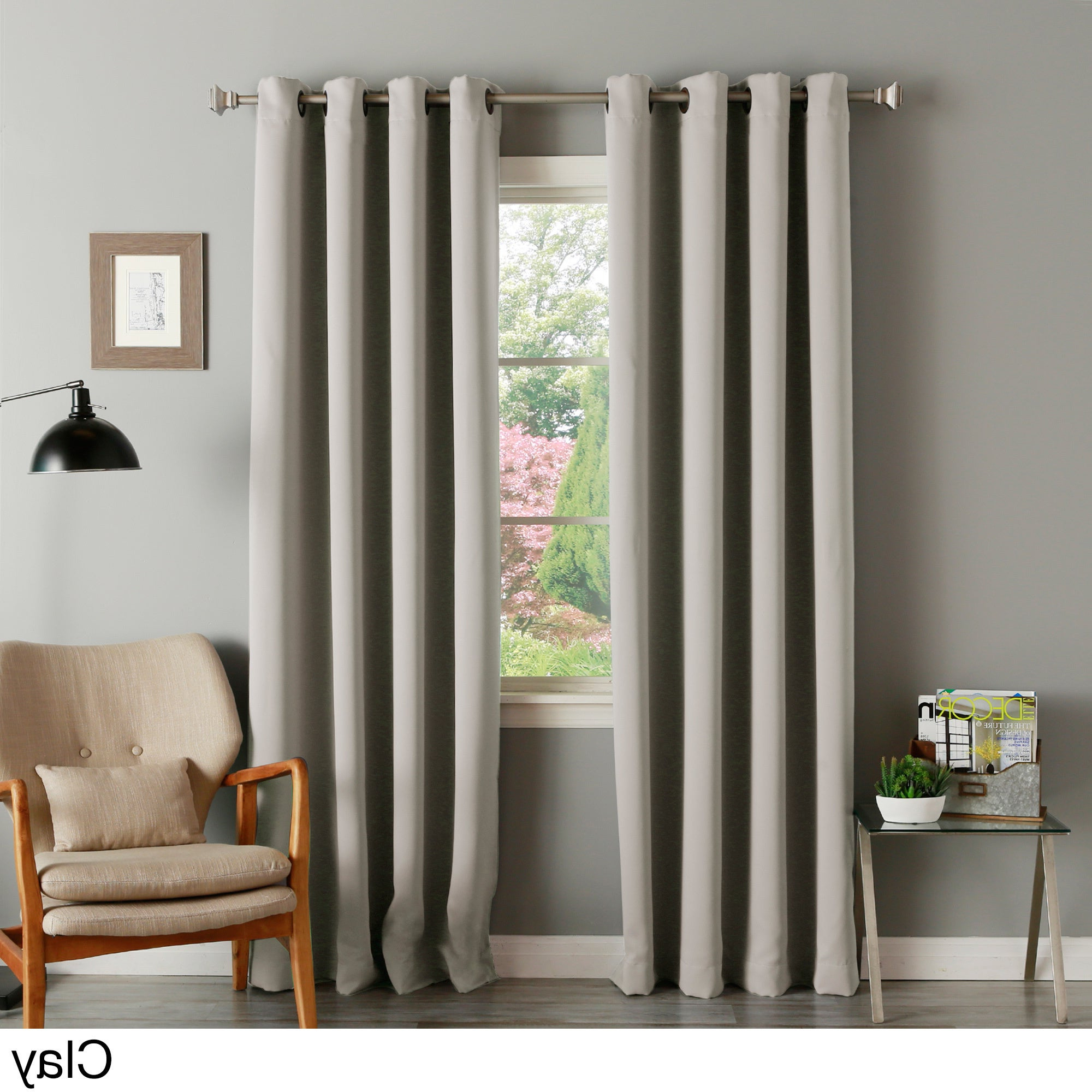 Famous Aurora Home Thermal Insulated Blackout Grommet Top Curtain Panel Pair Intended For Thermal Insulated Blackout Grommet Top Curtain Panel Pairs (Gallery 1 of 20)