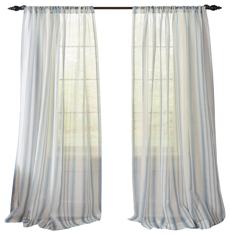 "Famous Grainger Buffalo Check Blackout Window Curtains Intended For Hampton Stripe Sheer Window Curtain, Blue, 52""x84"" (Gallery 16 of 20)"