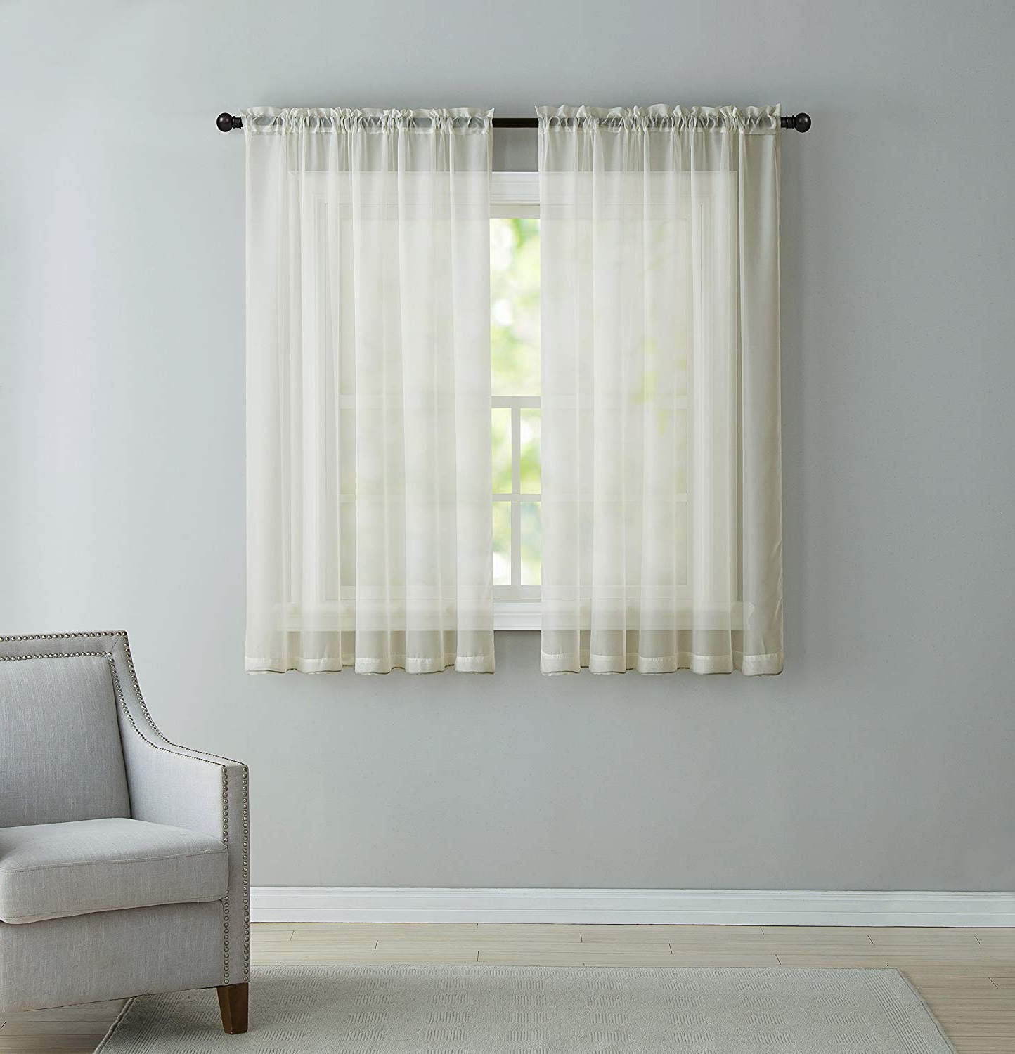 Famous Infinity Sheer Rod Pocket Curtain Panels Regarding Vcny Inf Pnl 5563 In Iv Infinity Sheer Panel, 5563 Inch, Ivory (View 7 of 20)