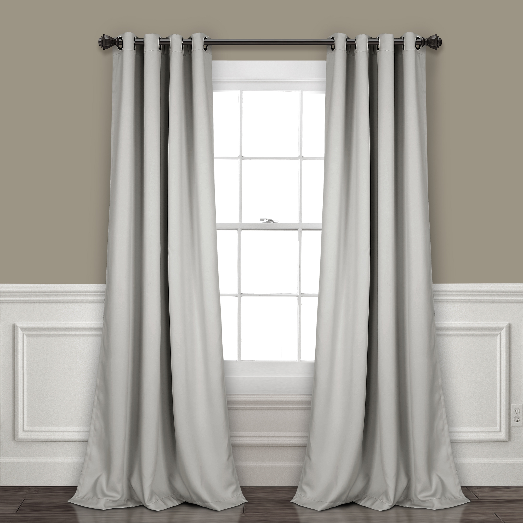 Famous Insulated Grommet Blackout Curtain Panel Pairs With Regard To Lush Decor Insulated Grommet Blackout Curtain Panels Pair (View 4 of 20)