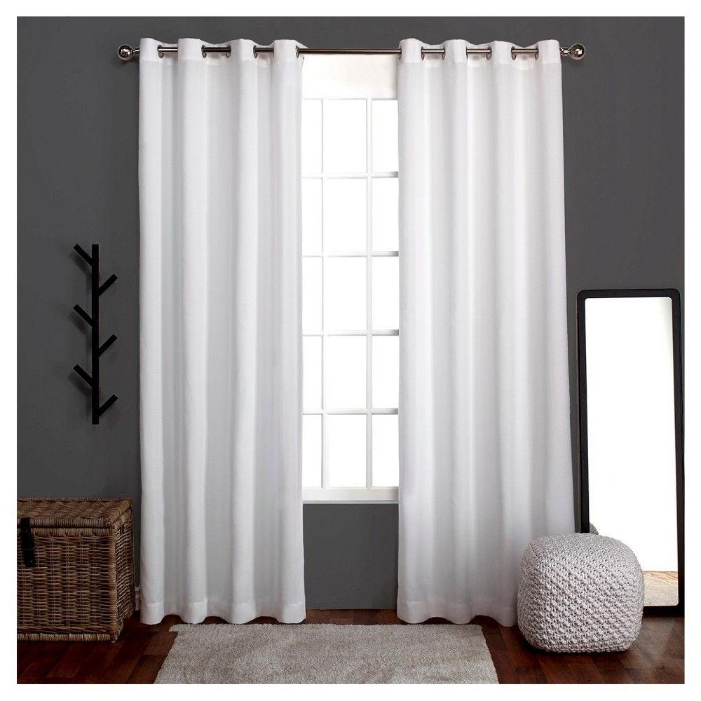 "Famous Loha Linen Window Curtain Panel Pair White (52""x96 Within Sugar Creek Grommet Top Loha Linen Window Curtain Panel Pairs (View 16 of 20)"