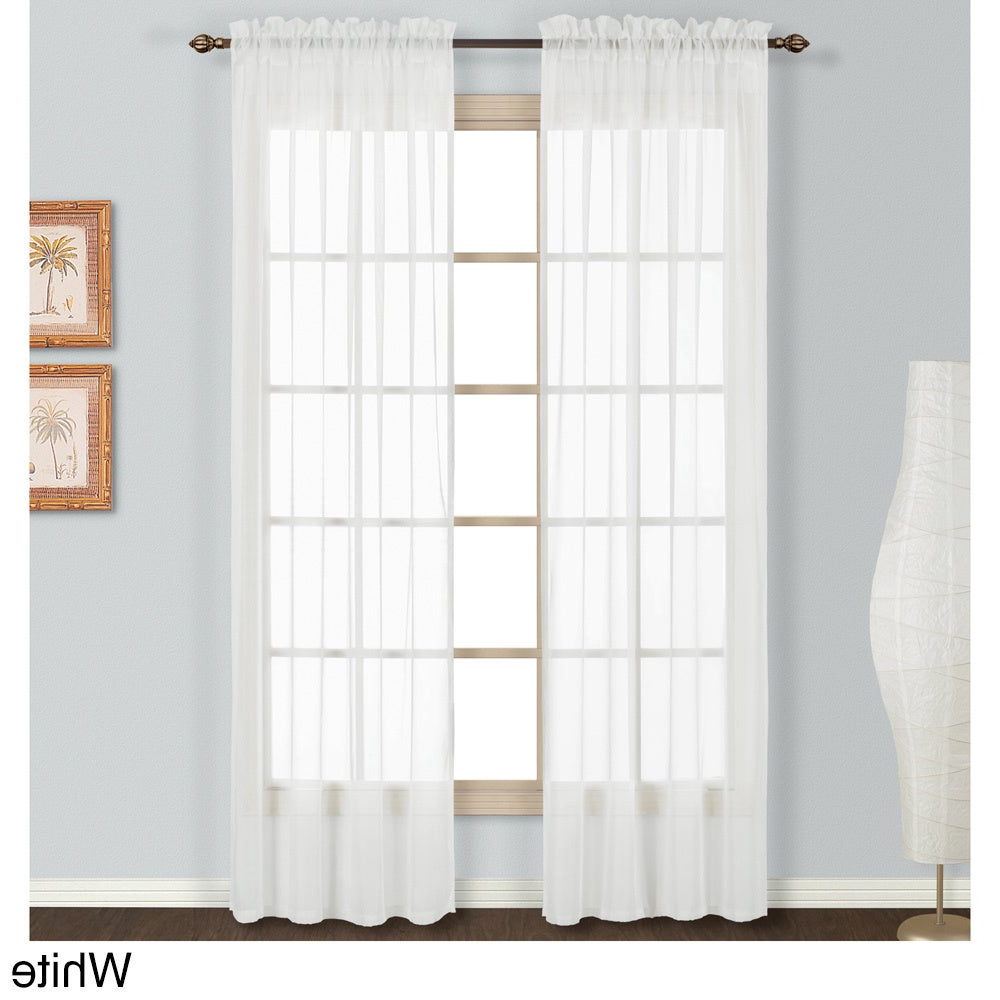 Famous Luxury Collection Monte Carlo Sheer Curtain Panel Pairs In Luxury Collection Monte Carlo Sheer Curtain Panel Pair (View 3 of 20)