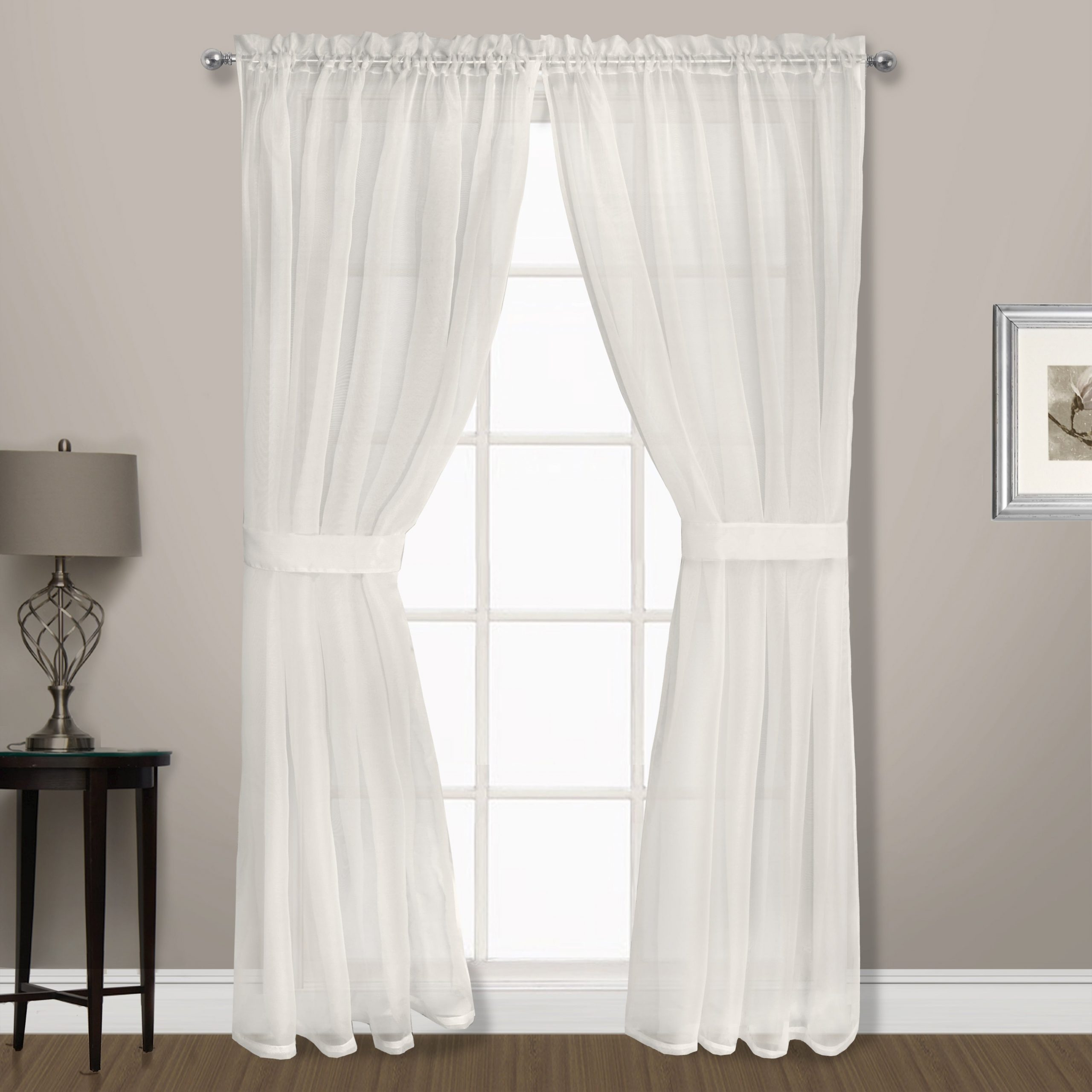 Famous Luxury Collection Summit Sheer Curtain Panel Pairs With Buy 54 Inches, 2 Panel Sheer Curtains Online At Overstock (Gallery 7 of 20)