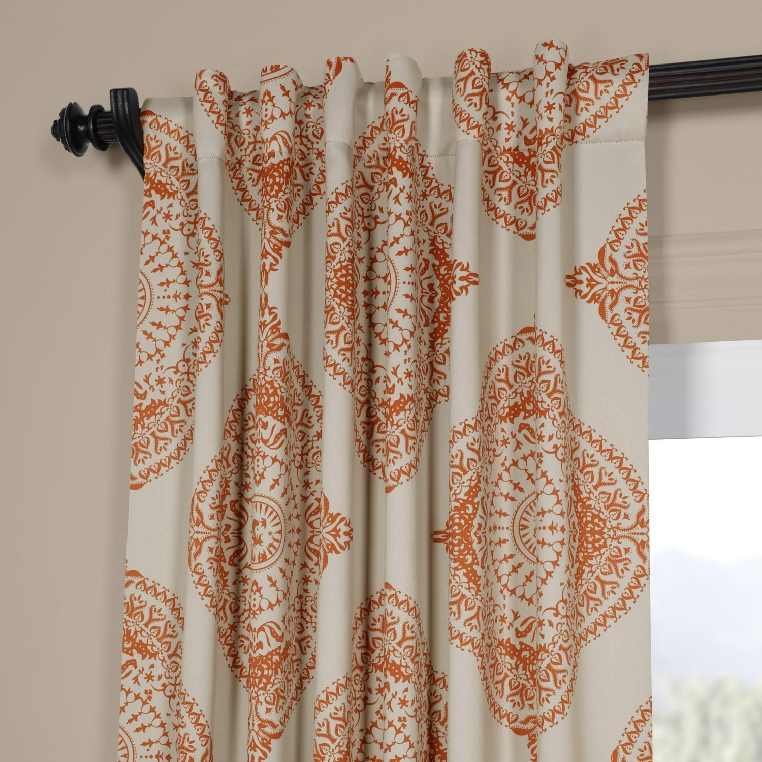 Famous Moroccan Style Thermal Insulated Blackout Curtain Panel Pairs Within Shop Moroccan Style Thermal Insulated Blackout Curtain Panel (Gallery 11 of 20)