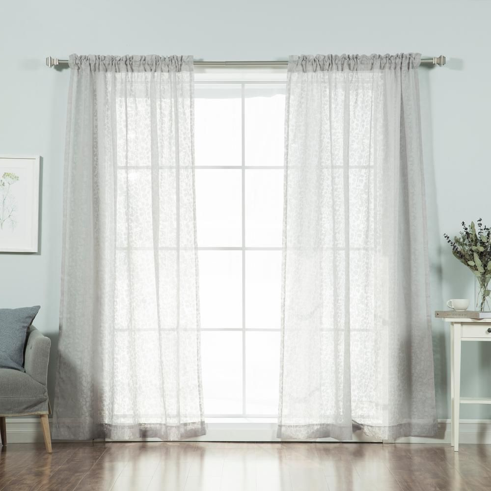 Famous Signature Extrawide Double Layer Sheer Curtain Panels Throughout Best Home Fashion 84 In (View 18 of 20)