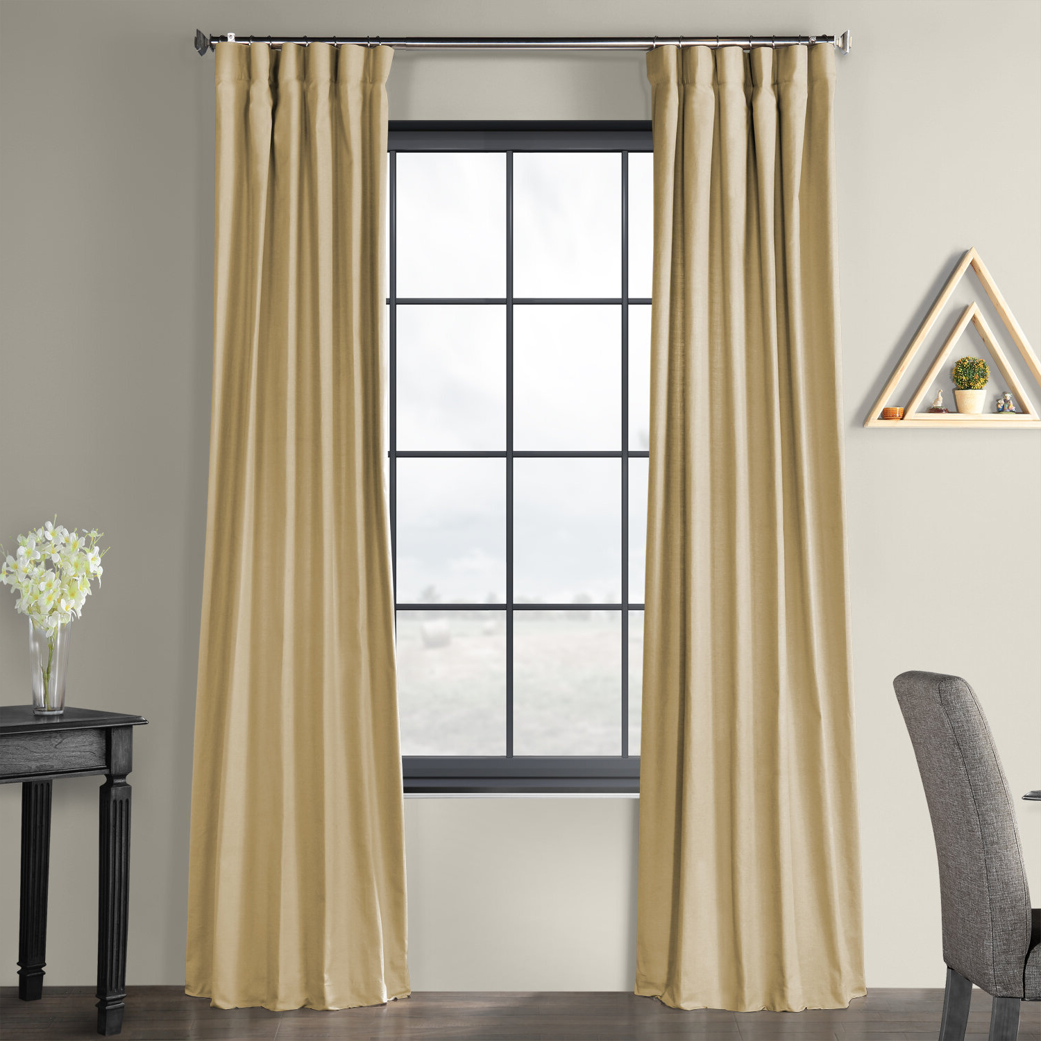 Famous Solid Country Cotton Linen Weave Curtain Panels Inside Sanger Solid Country Cotton Linen Weave Rod Pocket Single Curtain Panel (View 5 of 20)