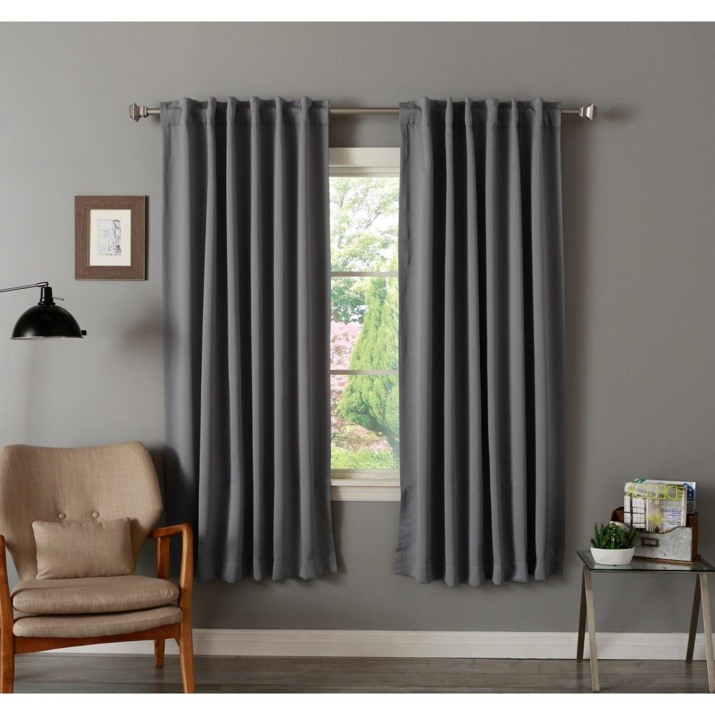 Famous Solid Thermal Insulated Blackout Curtain Panel Pairs Inside Curtain ~ Aurora Home Insulated Inch Thermal Blackout (View 14 of 20)