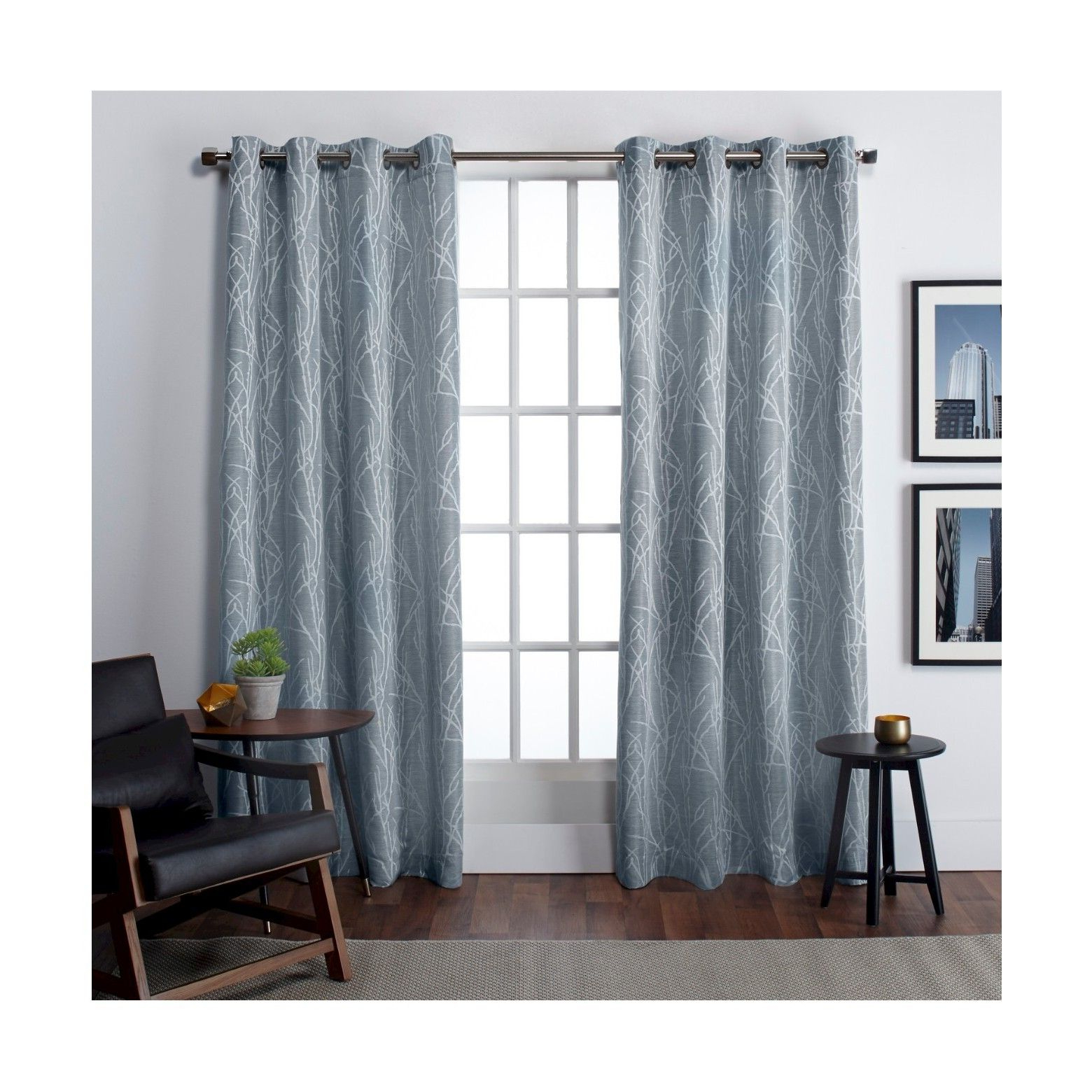 Famous Wilshire Burnout Grommet Top Curtain Panel Pairs Intended For Finesse Linen Look Jacquard Collection (View 9 of 20)