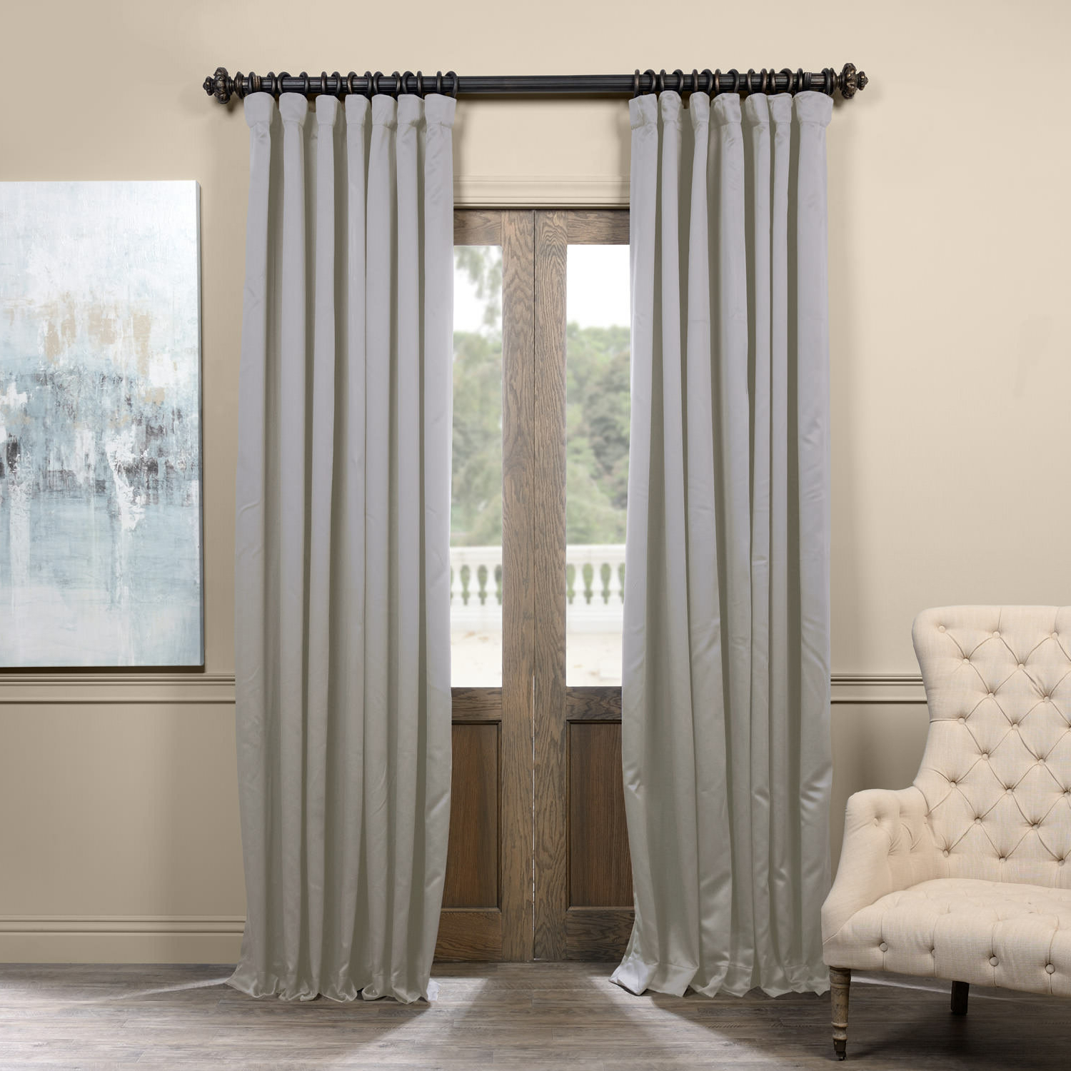 Fashionable Aldreda Extra Wide Solid Blackout Thermal Rod Pocket Single Curtain Panel Throughout Faux Silk Extra Wide Blackout Single Curtain Panels (Gallery 15 of 20)