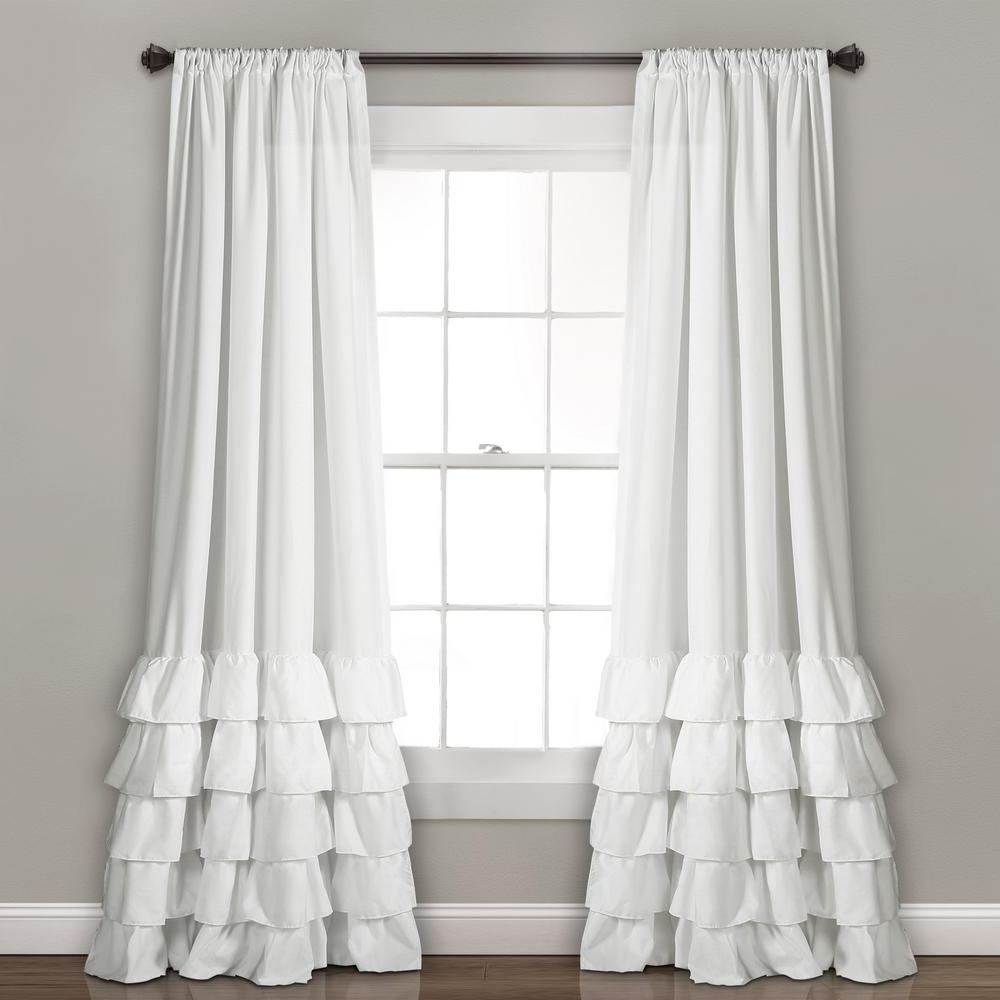 Fashionable Alison Rod Pocket Lace Window Curtain Panels For Lush Decor White Allison Ruffle Window Panel – 84 In. X 40 In (View 15 of 20)