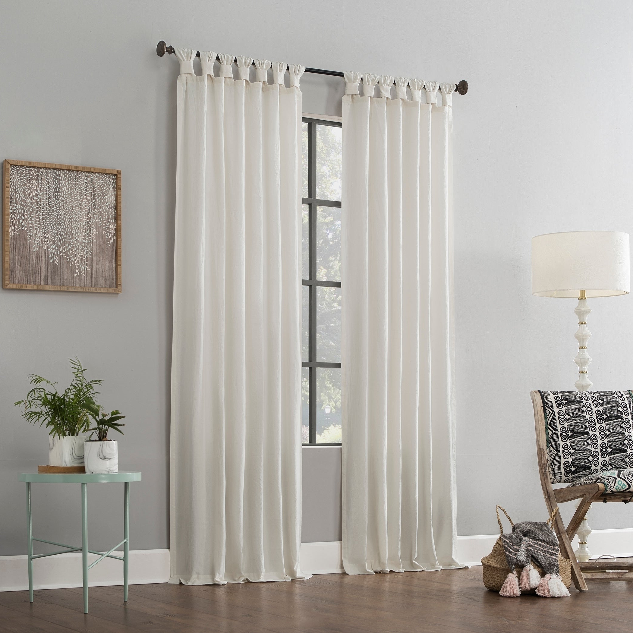 Fashionable Archaeo Washed Cotton Twist Tab Single Curtain Panels In Archaeo Washed Cotton Twist Tab Single Curtain Panel (View 10 of 20)
