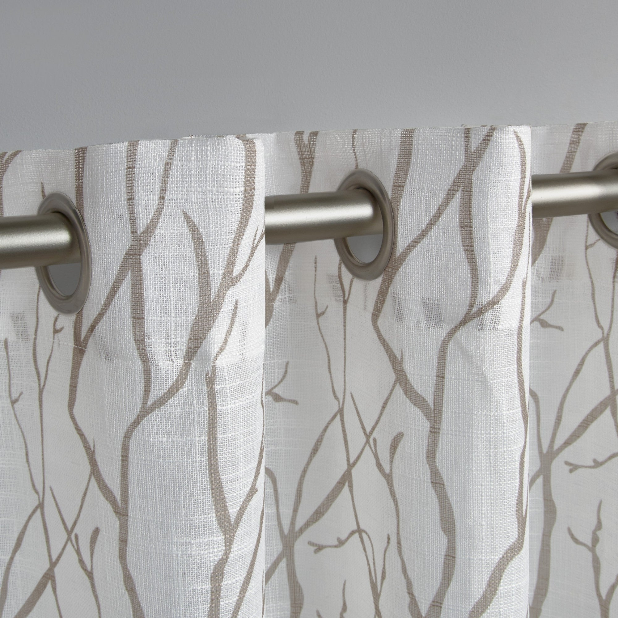Fashionable Ati Home Oakdale Textured Linen Sheer Grommet Top Curtain Panel Pair Pertaining To Oakdale Textured Linen Sheer Grommet Top Curtain Panel Pairs (Gallery 8 of 20)