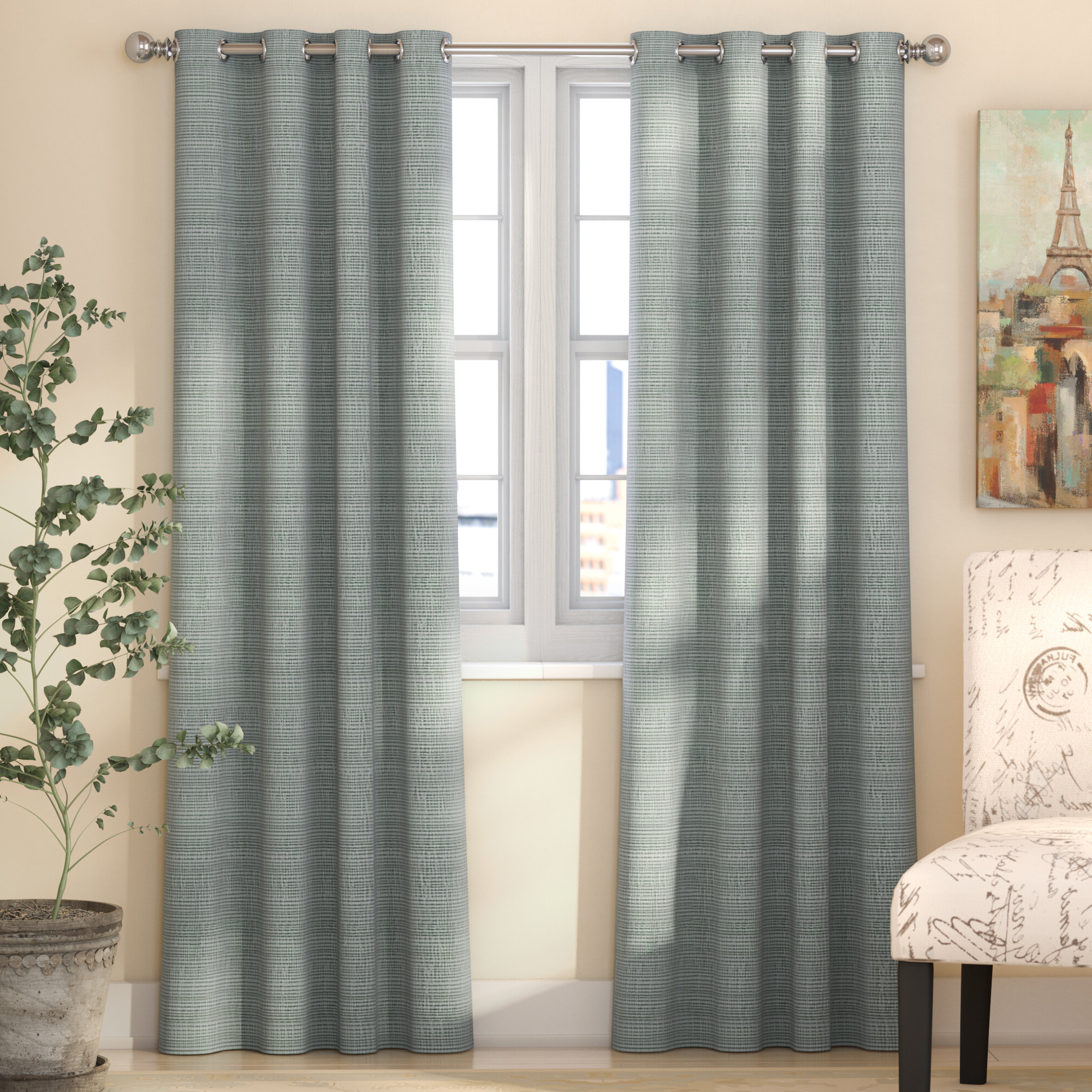 Fashionable Bellefontaine Solid Max Blackout Thermal Grommet Single Curtain Panel For Solid Insulated Thermal Blackout Long Length Curtain Panel Pairs (View 13 of 20)