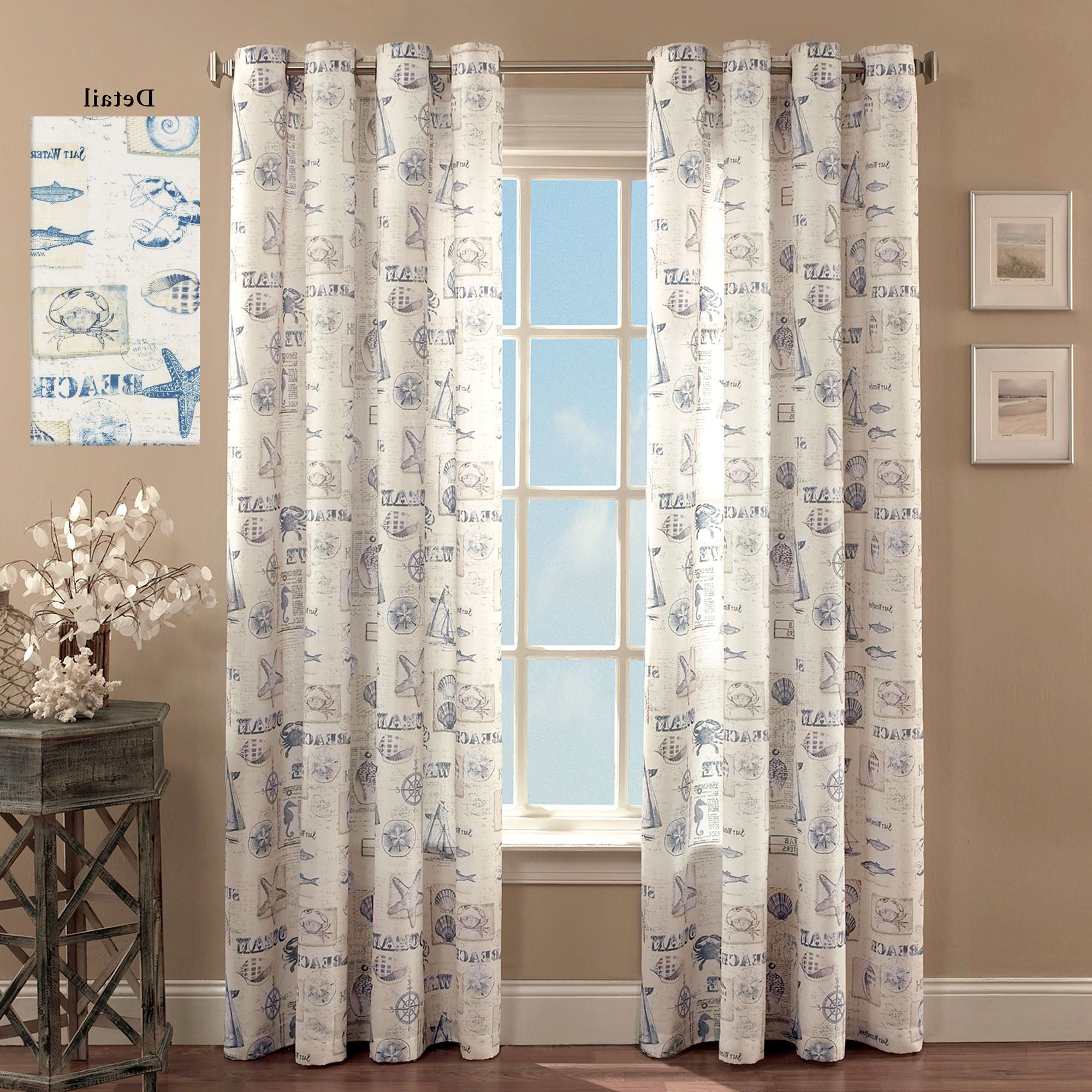 Fashionable By The Seaside Coastal Grommet Curtain Panels For Luxury Collection Summit Sheer Curtain Panel Pairs (View 13 of 20)