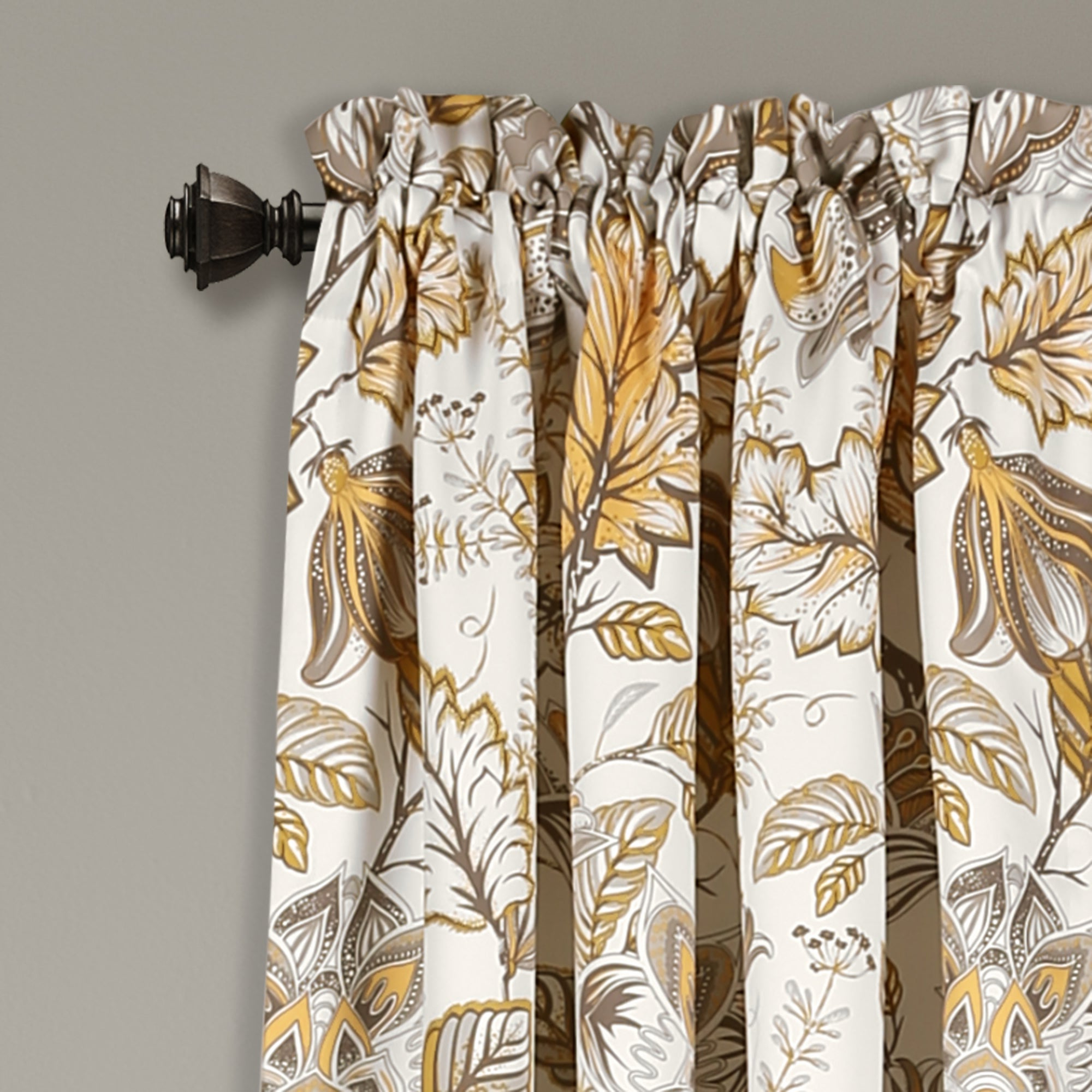 Fashionable Cynthia Jacobean Room Darkening Curtain Panel Pairs With Regard To Lush Decor Cynthia Jacobean Room Darkening Curtain Panel Pair (View 8 of 20)