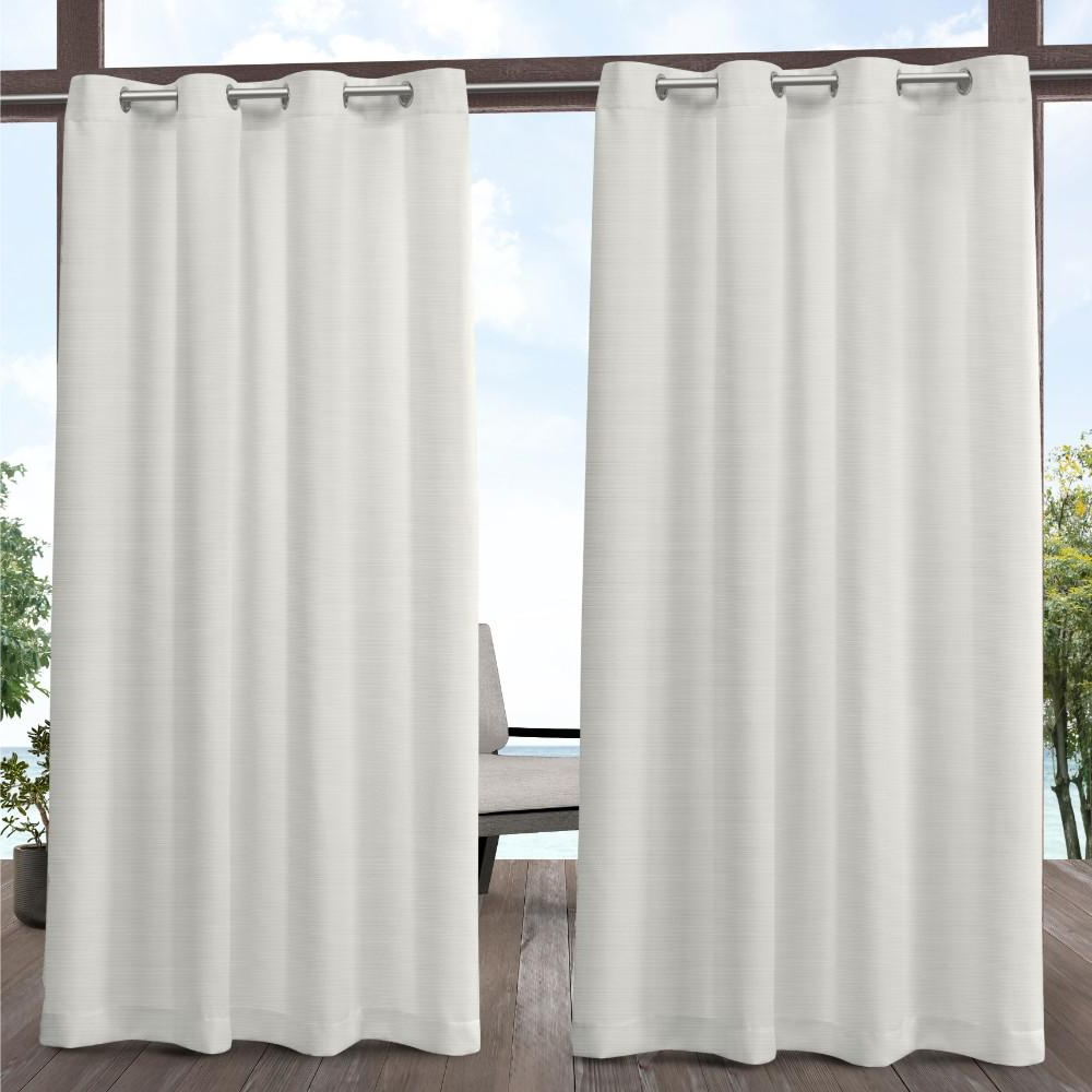 Fashionable Delano Indoor/outdoor Grommet Top Curtain Panel Pairs In Exclusive Home Curtains Delano 54 In. W X 84 In (View 3 of 20)