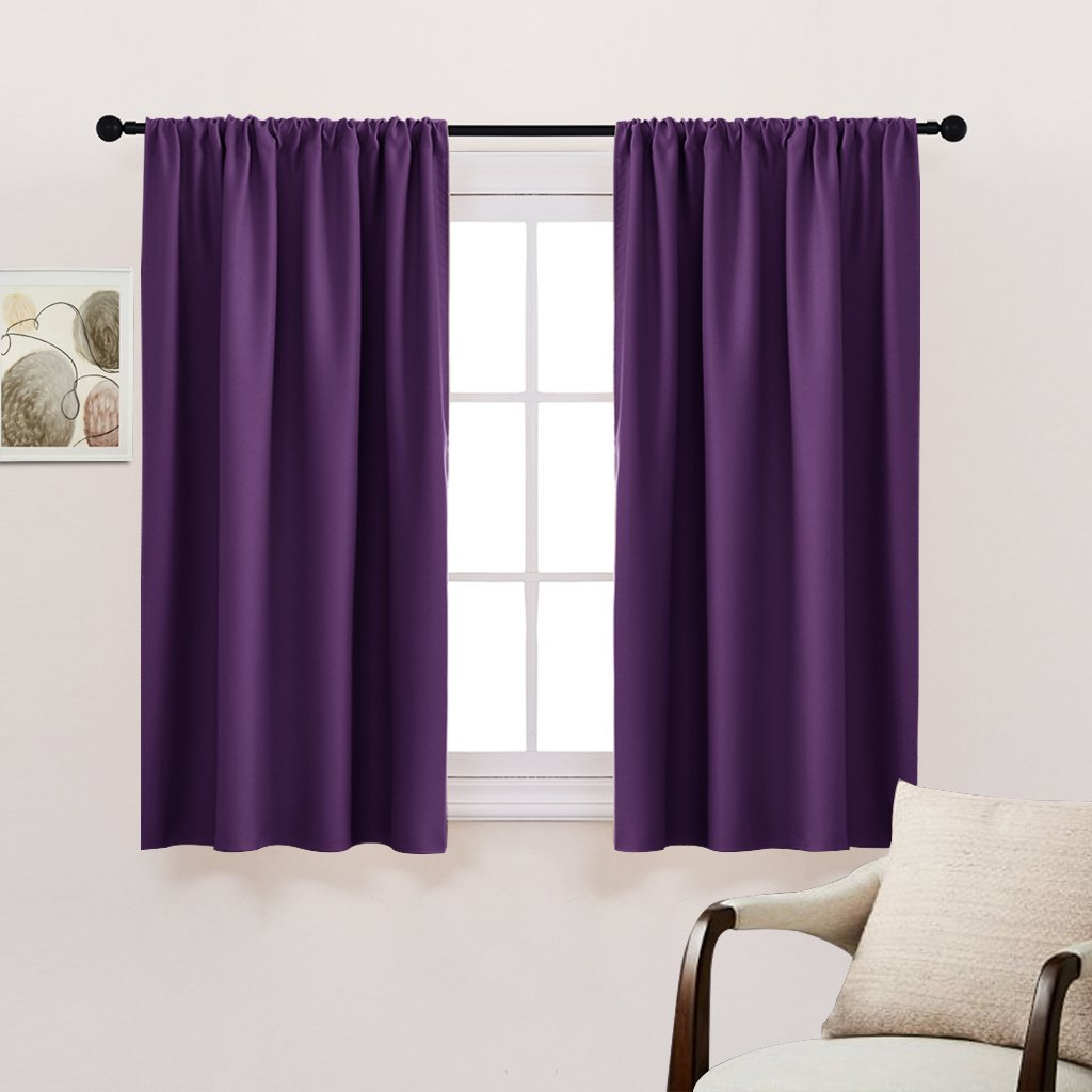 Fashionable Details About Bedroom Drapes Blackout Curtains Panels – Pony Dance All  Season Solid Rod Pocket Throughout All Seasons Blackout Window Curtains (View 13 of 20)