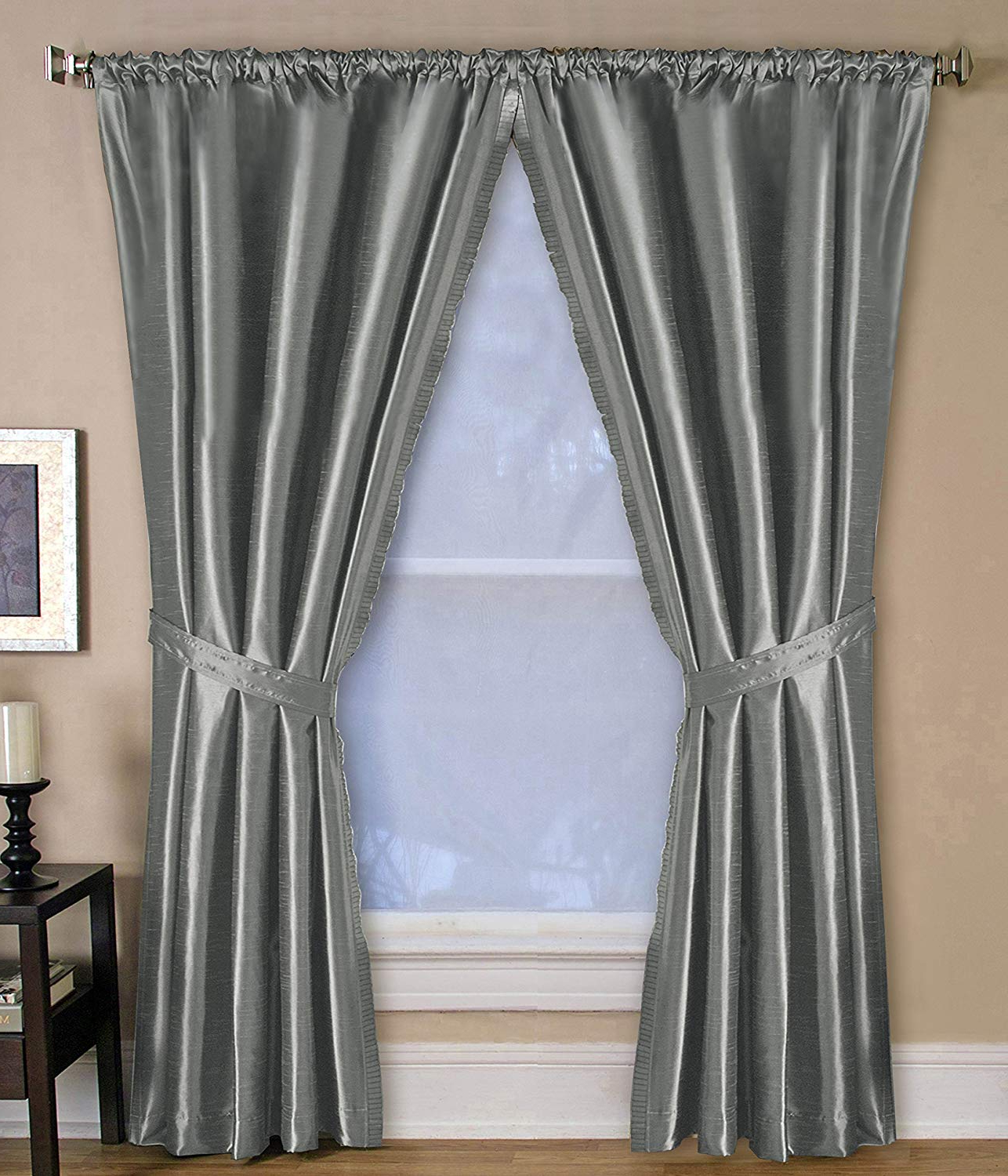 Fashionable Elrene Versailles Pleated Blackout Curtain Panels For Elrene Versailles Pleated Room Darkening Curtain Panel Grey 84 Inches (View 11 of 20)