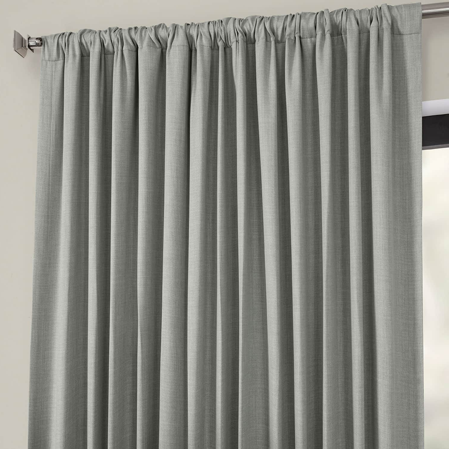 Fashionable Faux Linen Extra Wide Blackout Curtains Throughout Details About Extra Wide Faux Linen Blackout Curtains (Sold (View 5 of 21)