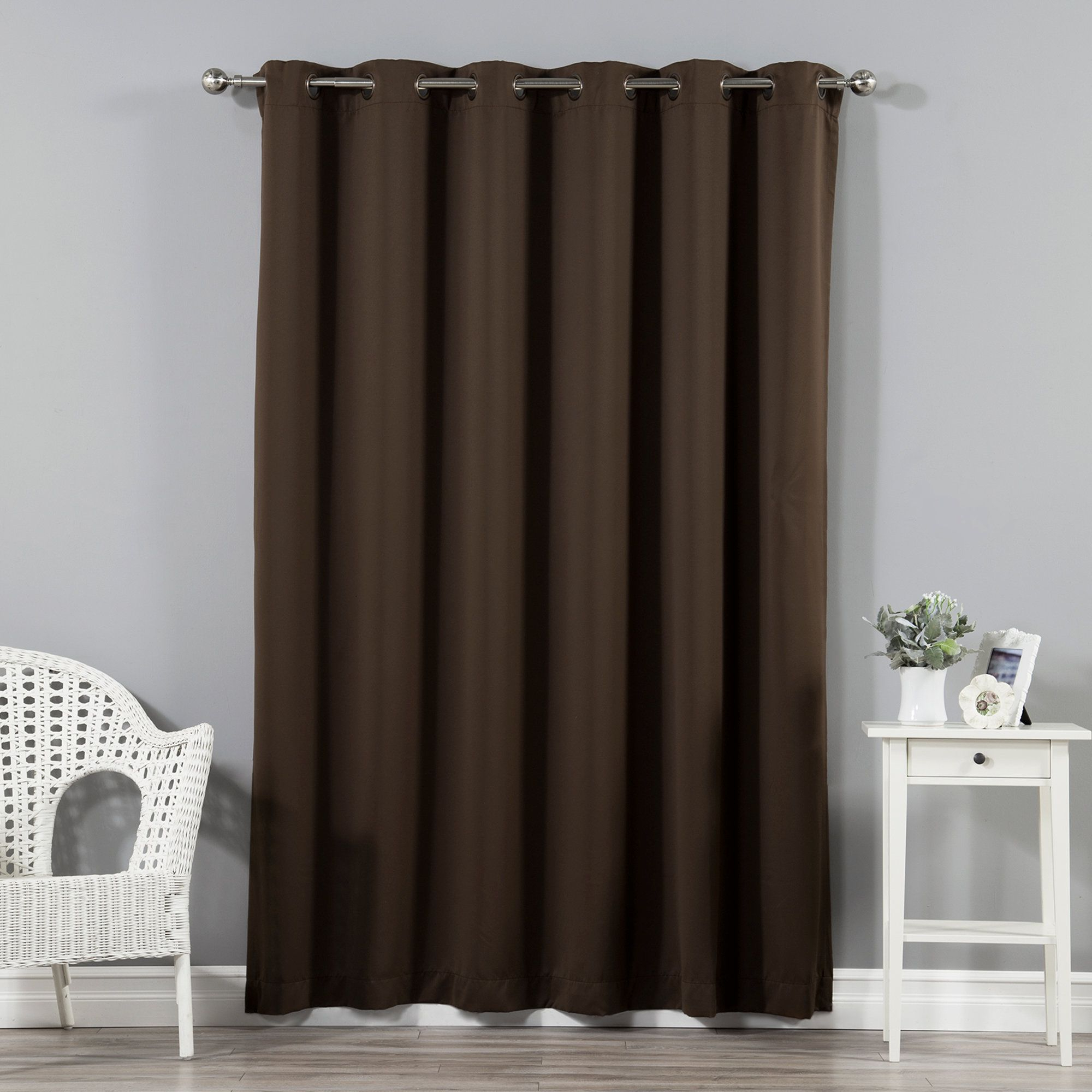 Fashionable Faux Silk Extra Wide Blackout Single Curtain Panels With Scarsdale Extra Solid Blackout Thermal Grommet Single (Gallery 6 of 20)