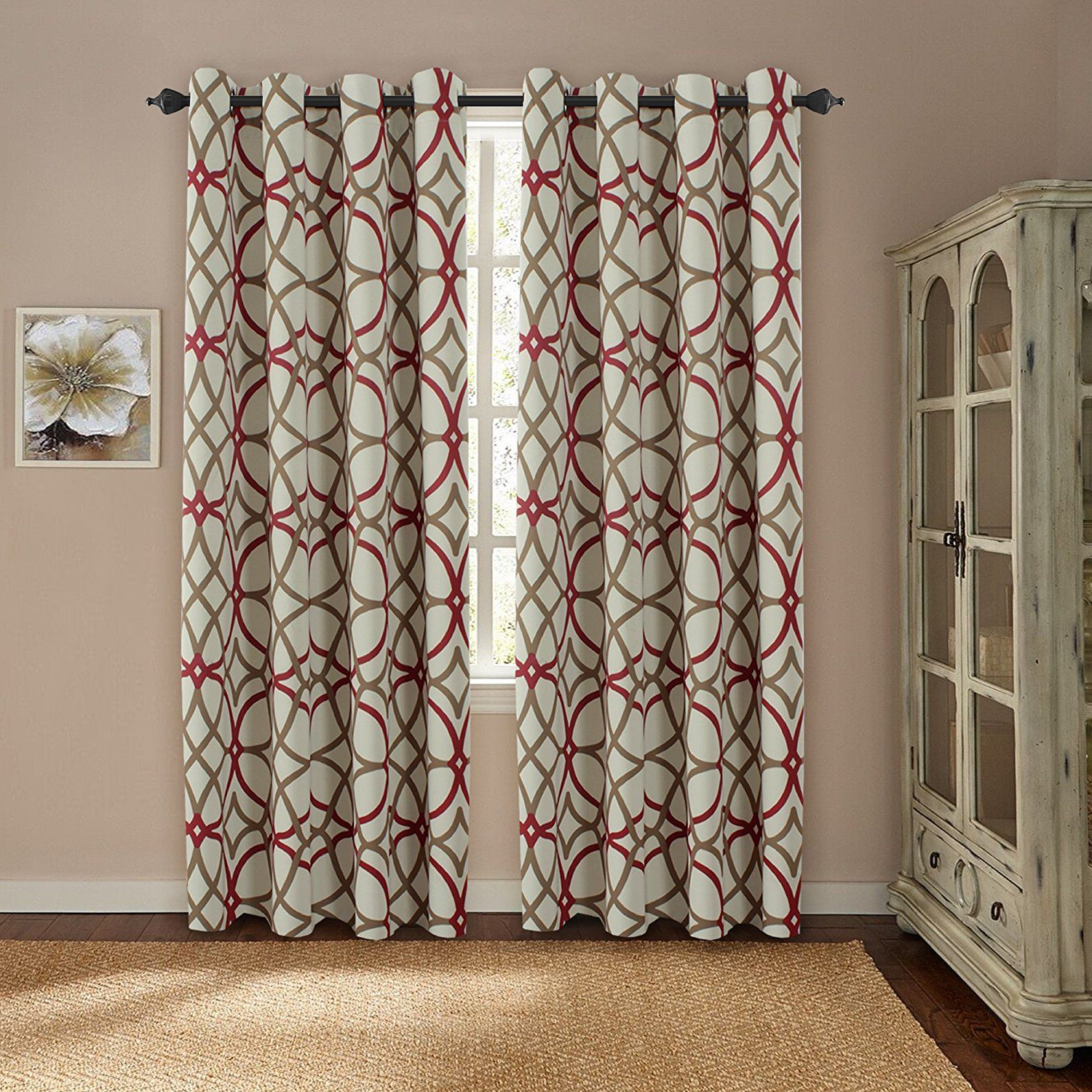 Fashionable Gray Barn Dogwood Floral Curtain Panel Pairs With Regard To Amazon: H.versailtex Thermal Insulated Blackout Window (Gallery 17 of 20)