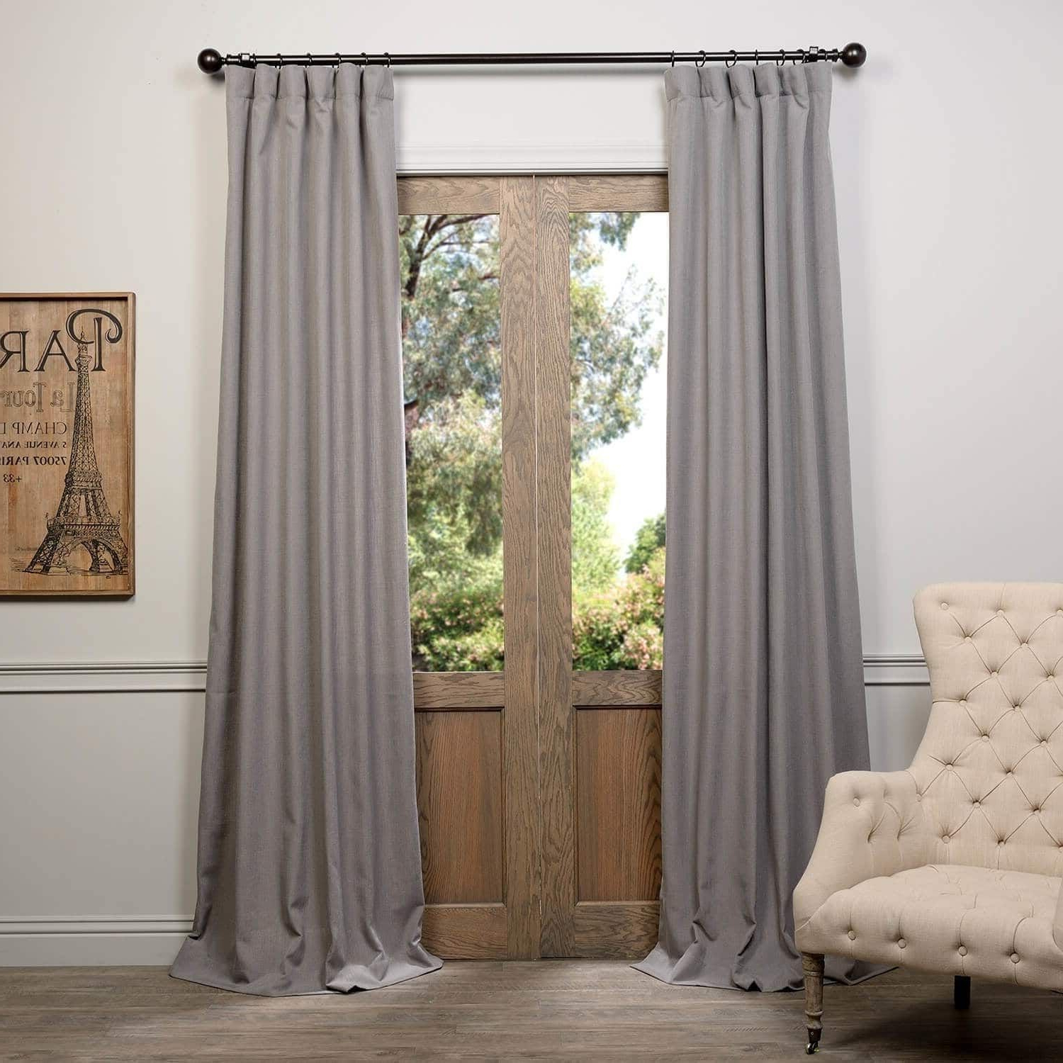 Fashionable Heavy Faux Linen Single Curtain Panel (View 11 of 20)
