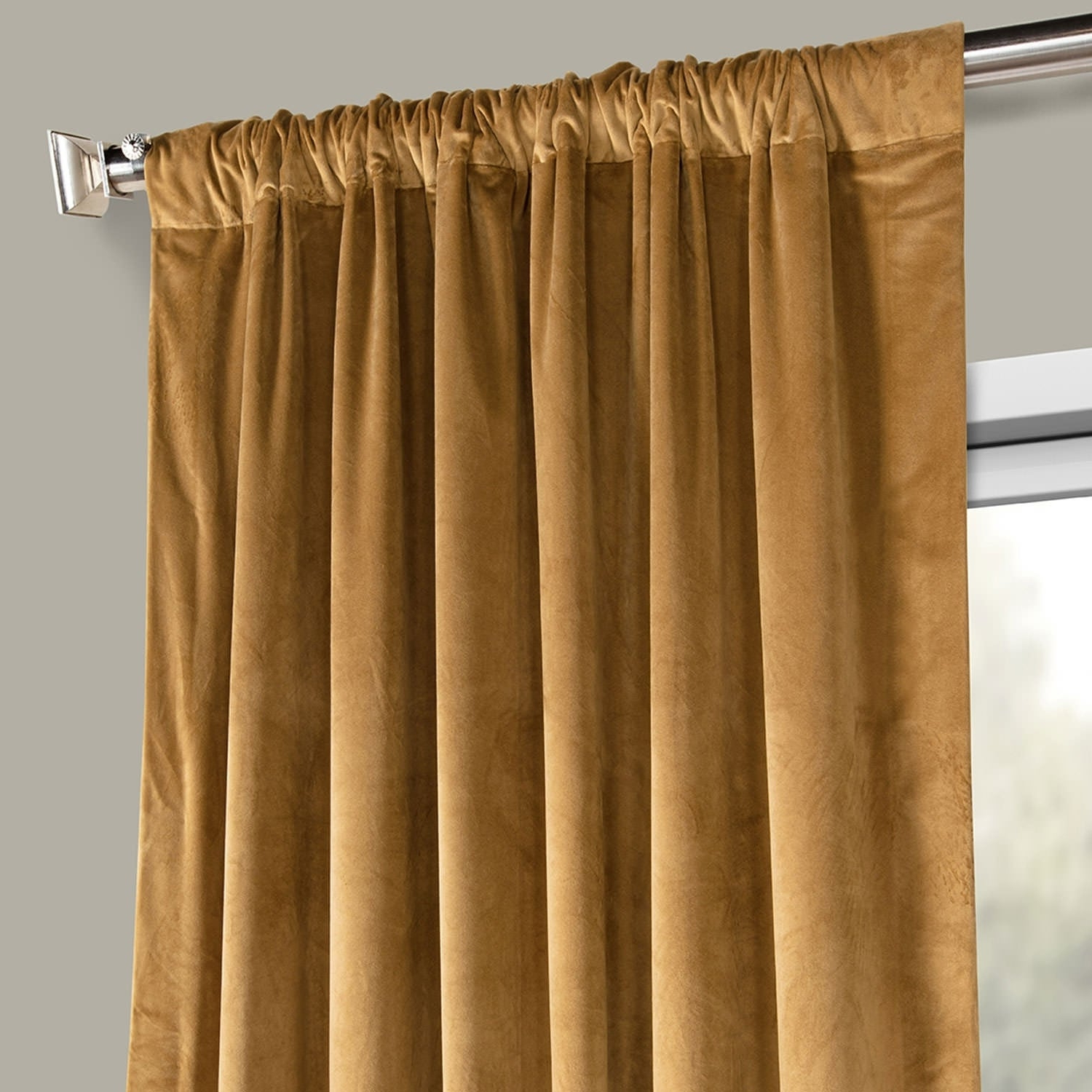 Fashionable Heritage Plush Velvet Curtains Pertaining To Exclusive Fabrics Heritage Plush Velvet Single Curtain Panel (View 9 of 20)