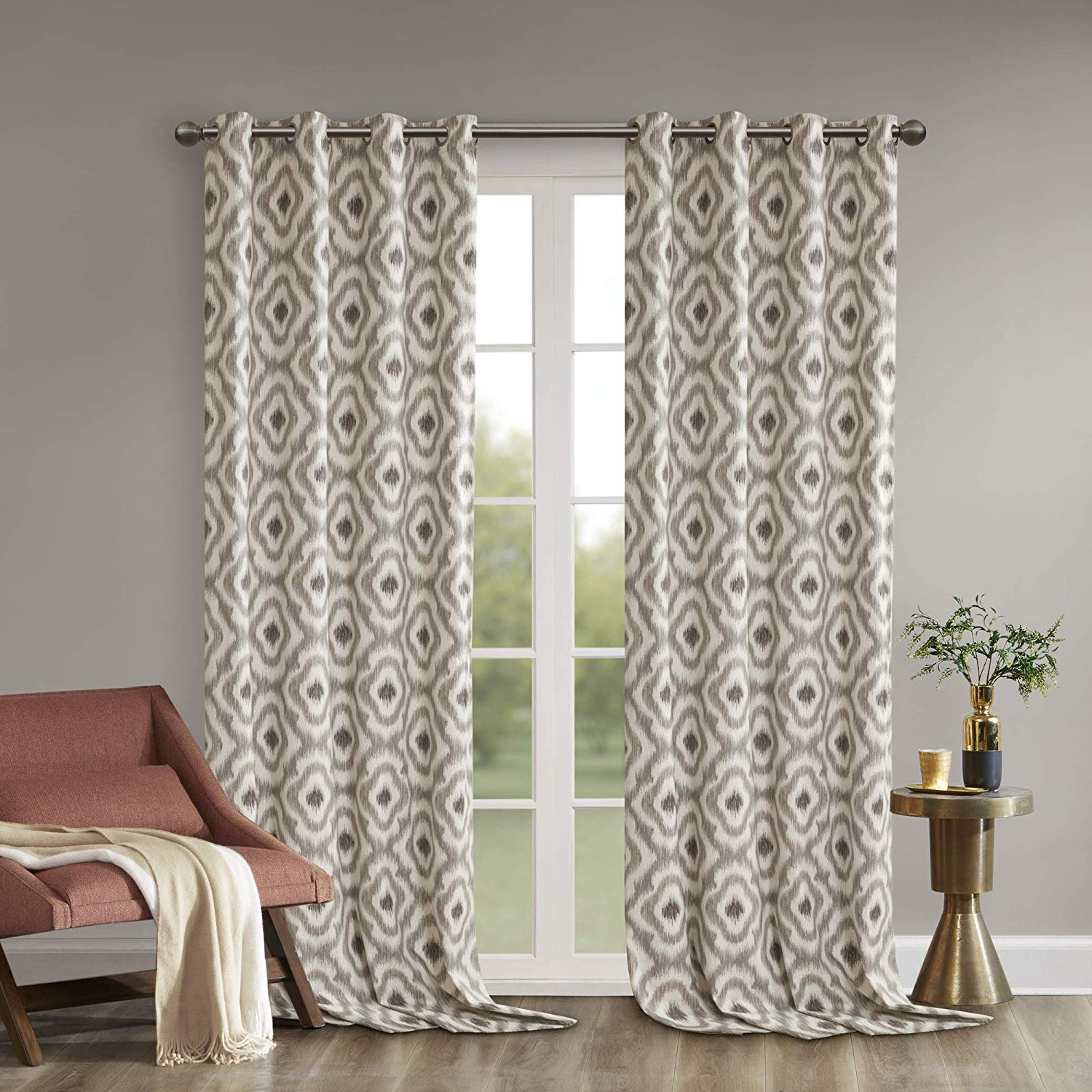 Featured Photo of Ink Ivy Ankara Cotton Printed Single Curtain Panels