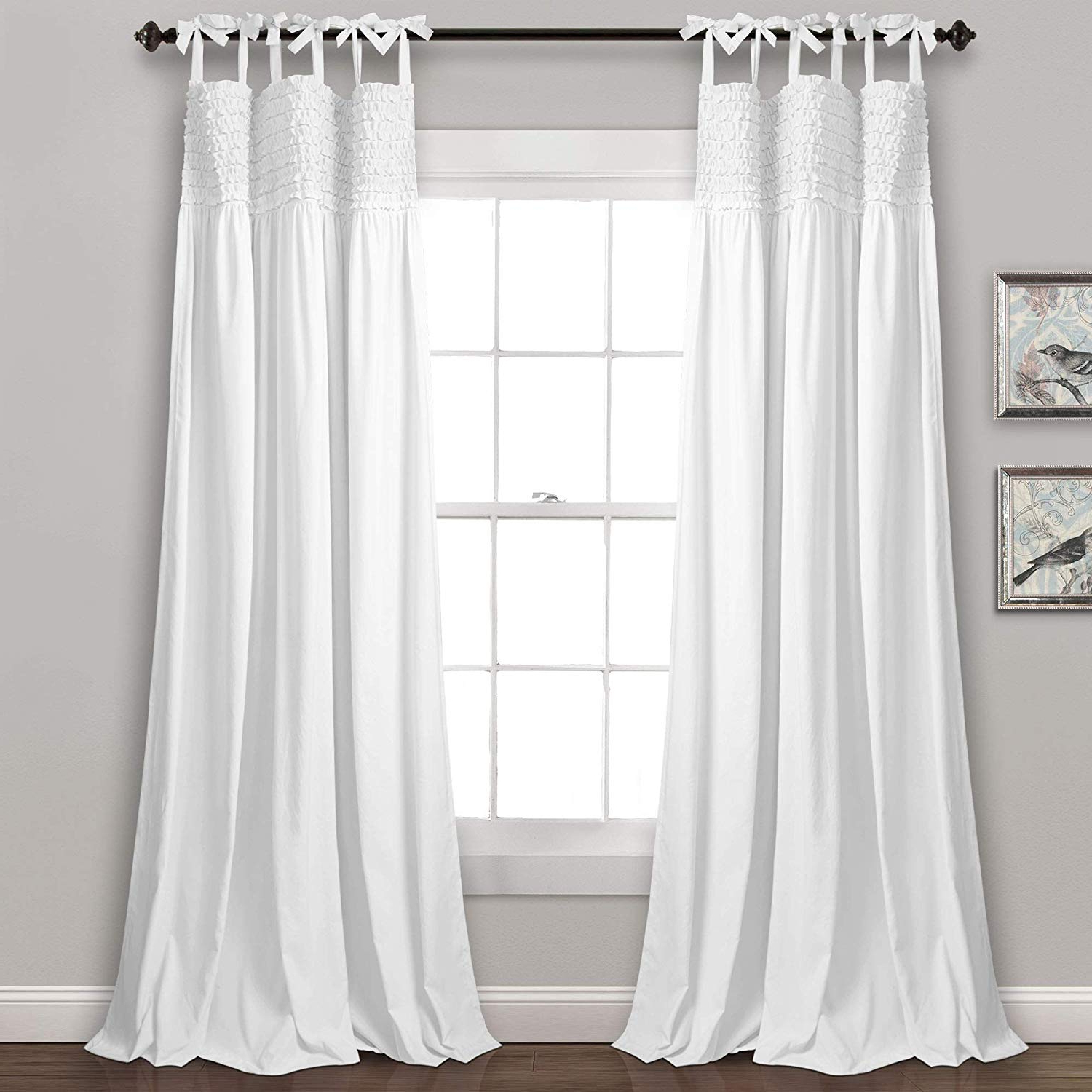 Featured Photo of Lydia Ruffle Window Curtain Panel Pairs