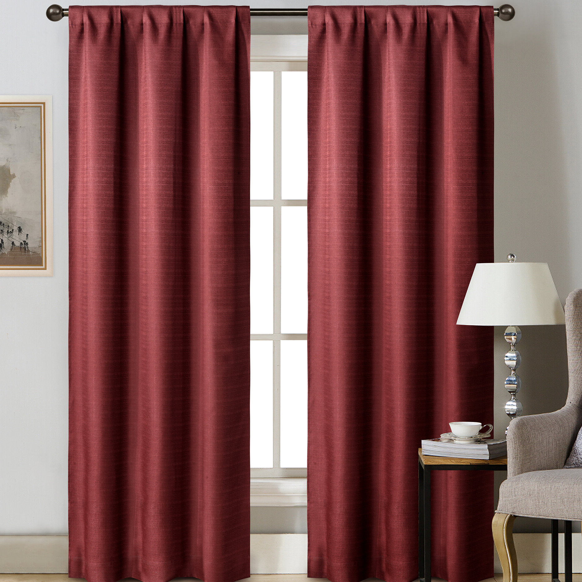 Fashionable Luxury Collection Cranston Sheer Curtain Panel Pairs Throughout Terrazas Solid Color Semi Sheer Grommet Curtain Panels (View 16 of 20)