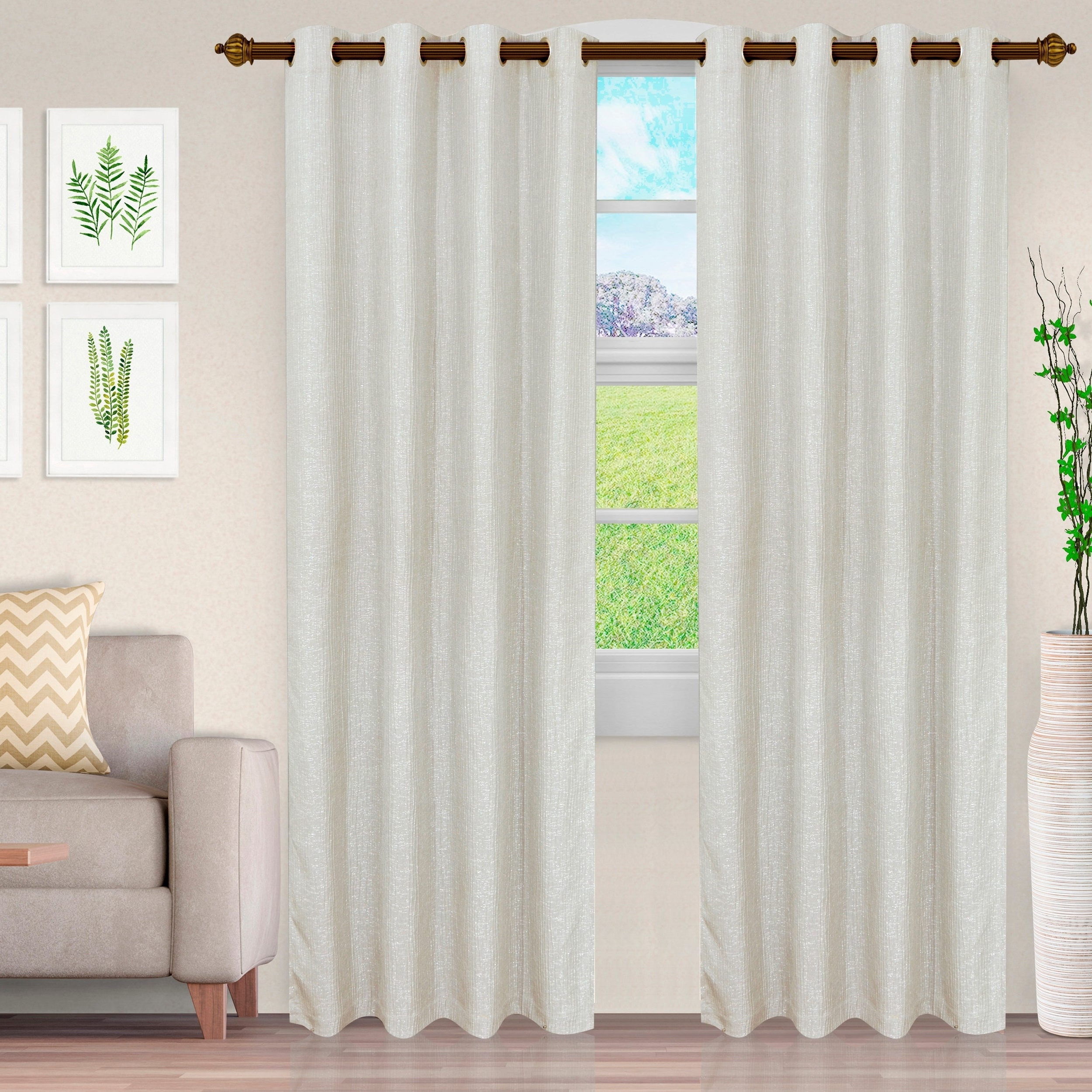 Fashionable Miranda Haus Hebbe Cascade Jacquard Grommet Curtain Panel (set Of 2) With Miranda Haus Labrea Damask Jacquard Grommet Curtain Panels (View 14 of 20)