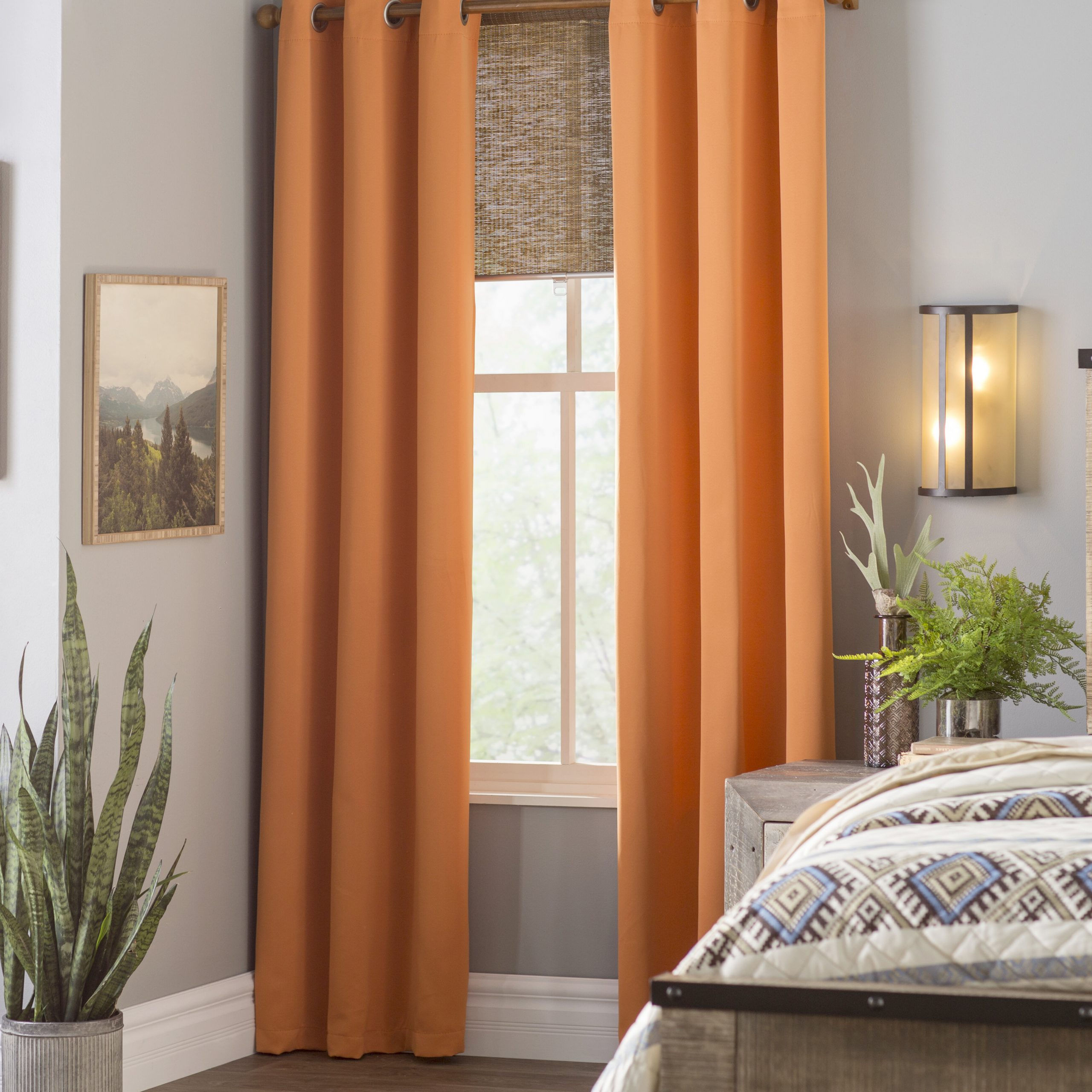 Fashionable Morton Solid Blackout Grommet Curtain Panels With Silvertone Grommet Thermal Insulated Blackout Curtain Panel Pairs (View 18 of 20)