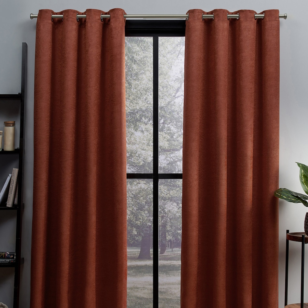 Fashionable Oxford Sateen Woven Blackout Grommet Top Curtain Panel Pairs Regarding Exclusive Home 2 Pack Oxford Textured Sateen Woven Blackout (View 7 of 20)