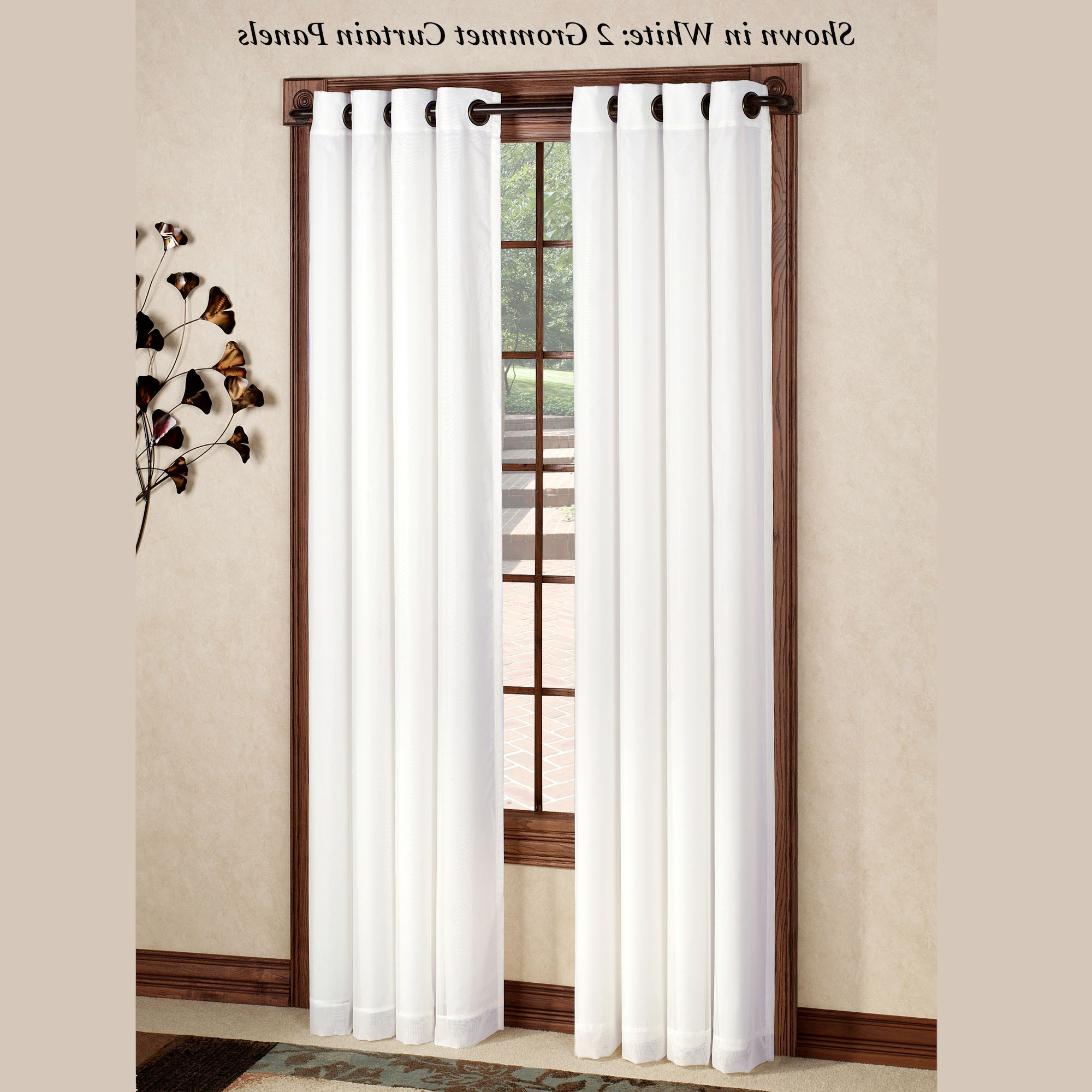 Fashionable Rhapsody Thermavoile(Tm) Grommet Curtain Panels Regarding Grommet Curtain Panels (Gallery 4 of 20)