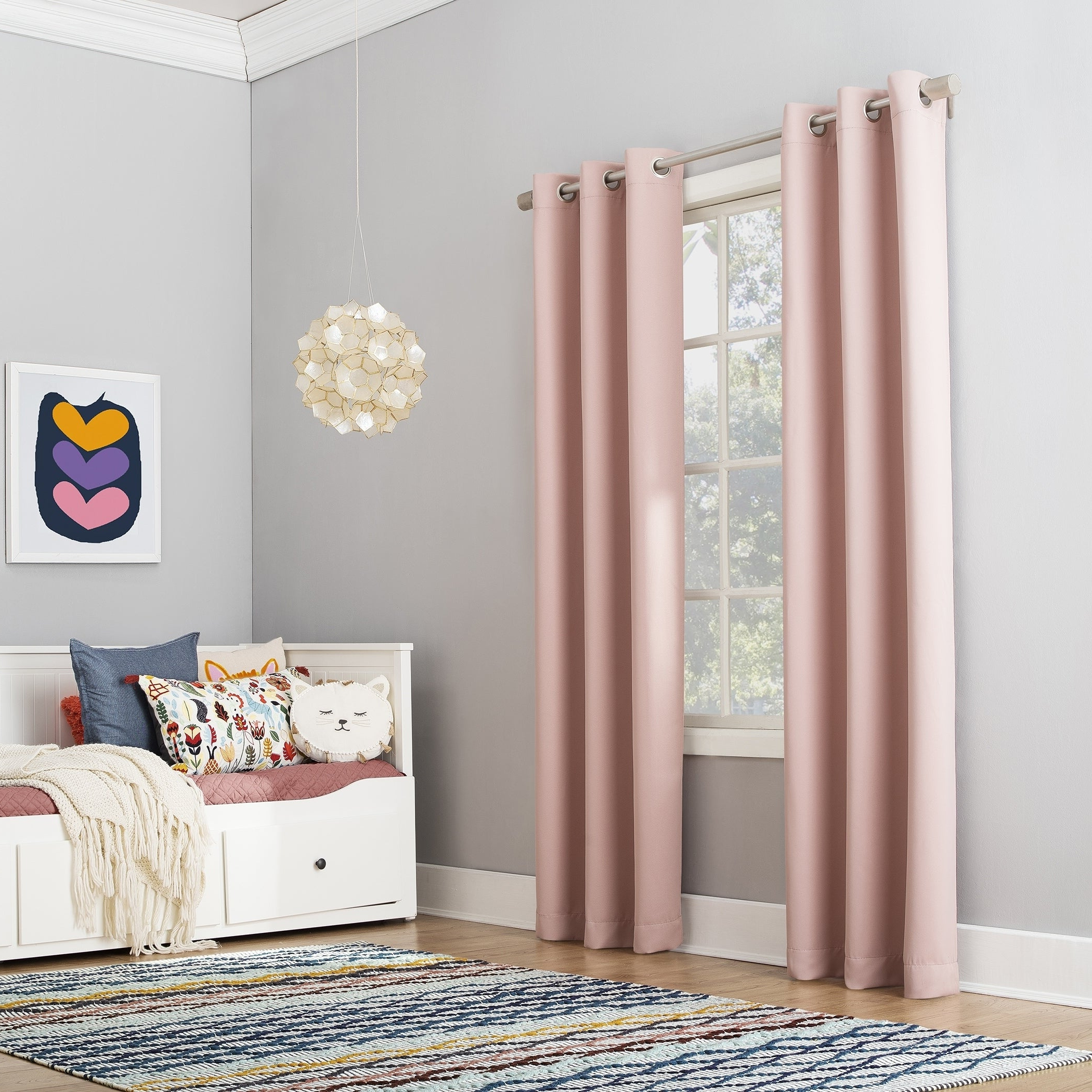 Featured Photo of Riley Kids Bedroom Blackout Grommet Curtain Panels