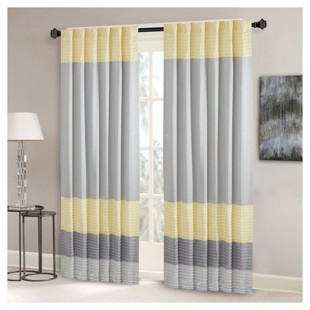 "Fashionable Salem Polyoni Pintuck Curtain Panel Black (50""x84 Inside Chester Polyoni Pintuck Curtain Panels (View 12 of 20)"