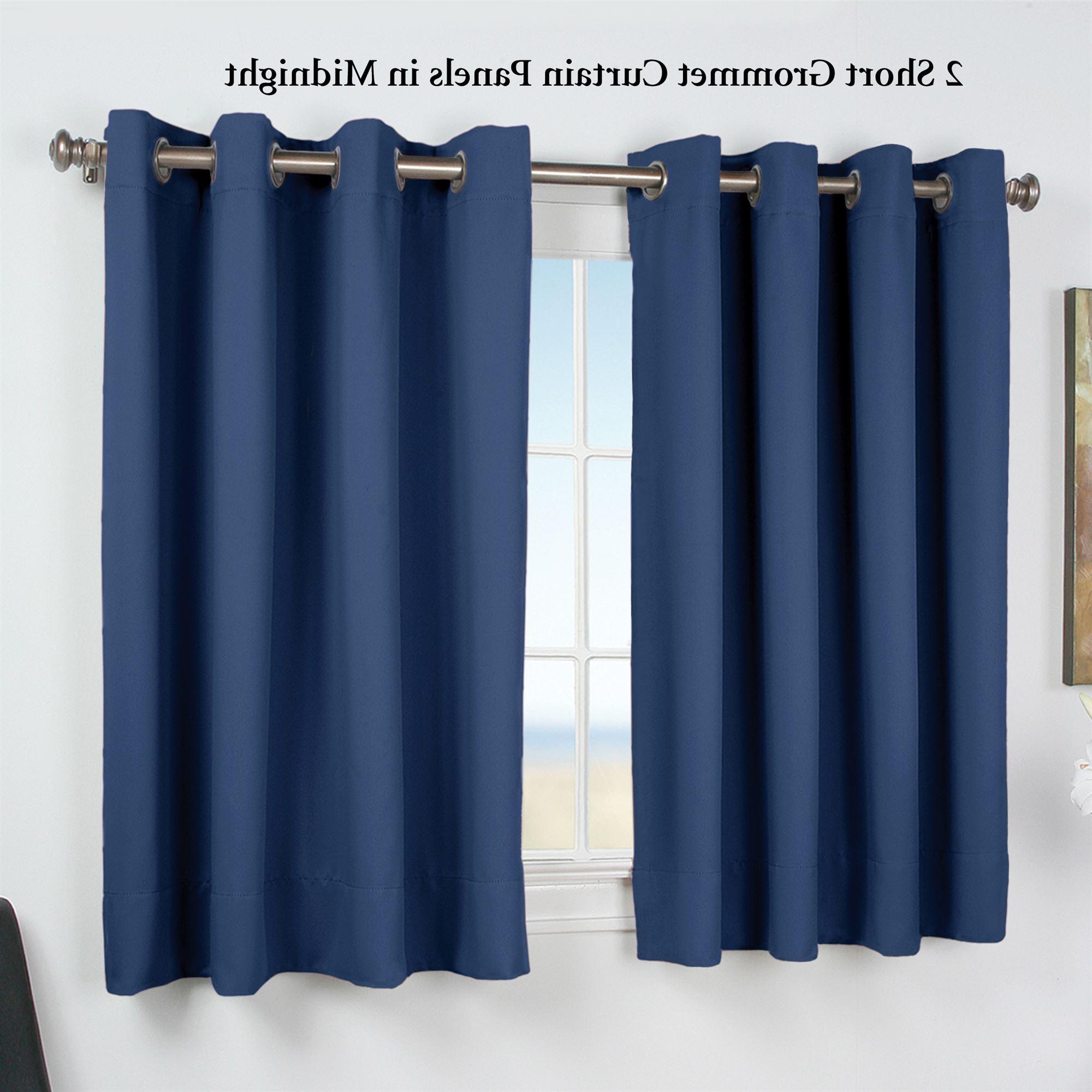 Fashionable Ultimate Blackout Short Length Grommet Curtain Panels Within Ultimate Blackout Short Grommet Curtain Panel (View 8 of 20)