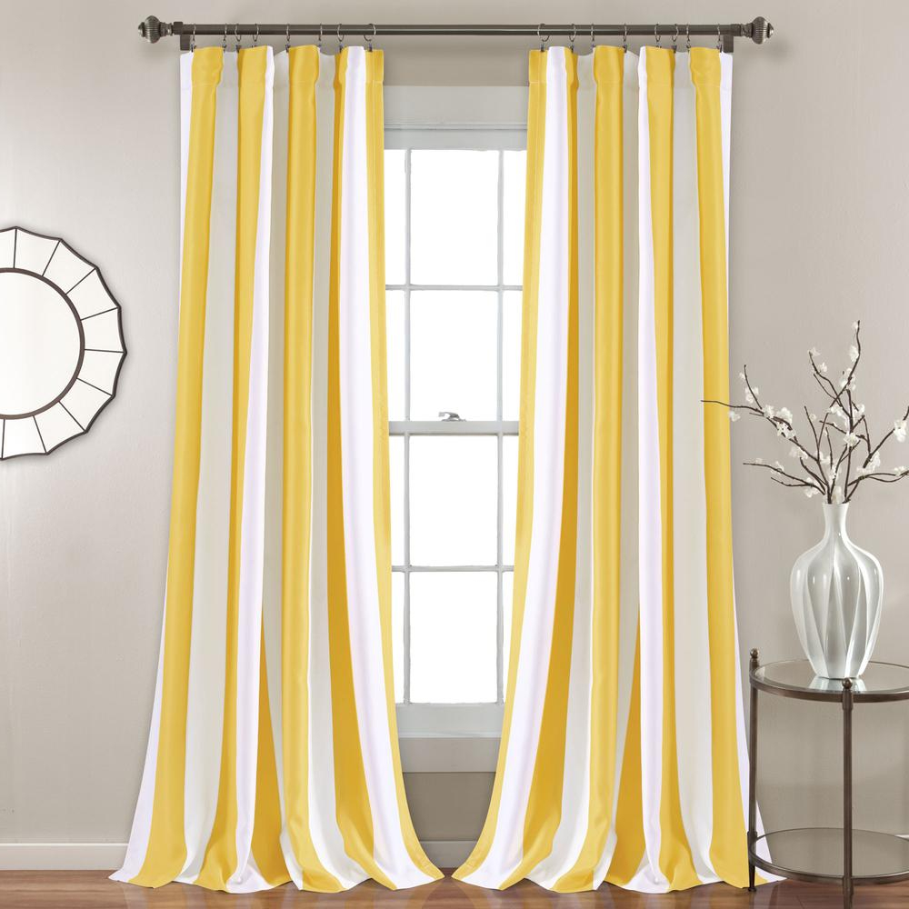 Fashionable Wilbur Stripe Room Darkening Window Curtain Panels Yellow 52x84 Sethalf Moon With Regard To Weeping Flowers Room Darkening Curtain Panel Pairs (View 13 of 20)