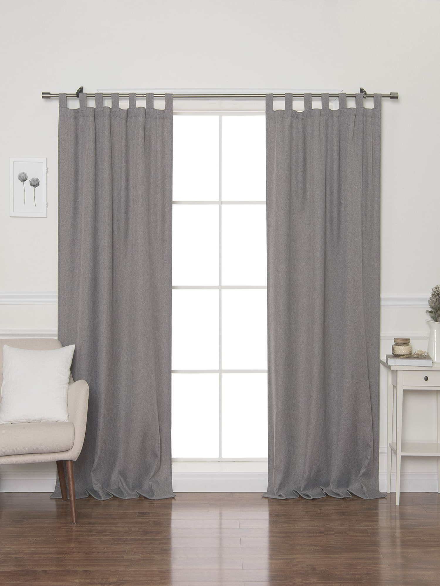 Faux Linen Blackout Curtains In Most Current Faux Linen Blackout Tab Top Curtain (View 11 of 20)