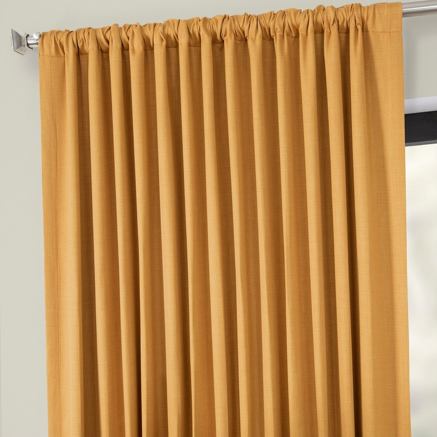 Faux Linen Extra Wide Blackout Curtains Intended For Widely Used Exclusive Fabrics Faux Linen Extra Wide Blackout Curtain In Oatmeal – 100 X 96 – (As Is Item) (Gallery 14 of 21)