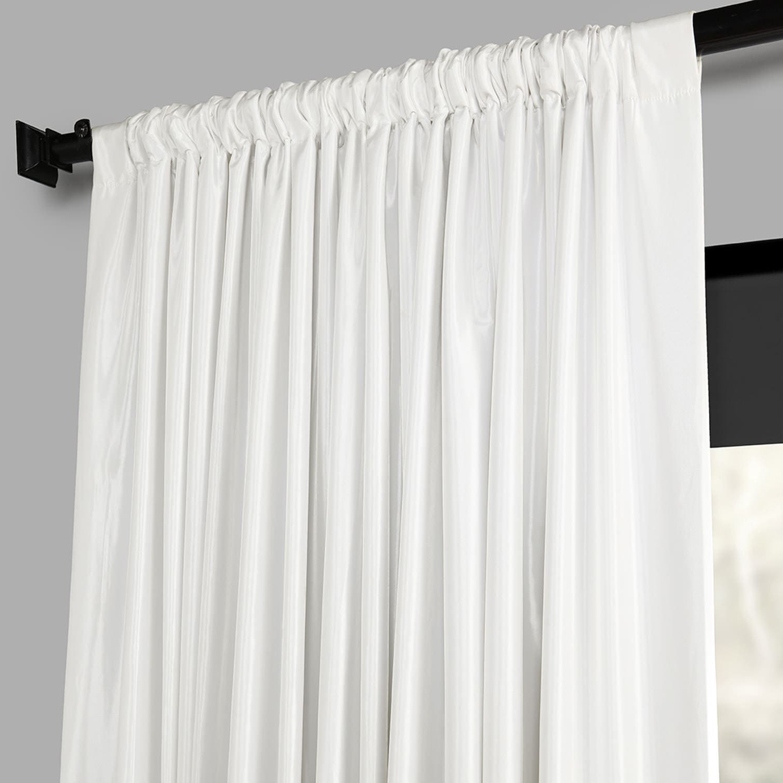 Faux Silk Extra Wide Blackout Single Curtain Panels In 2021 Details About Blackout Extra Wide Faux Silk Taffeta Curtain (View 7 of 20)