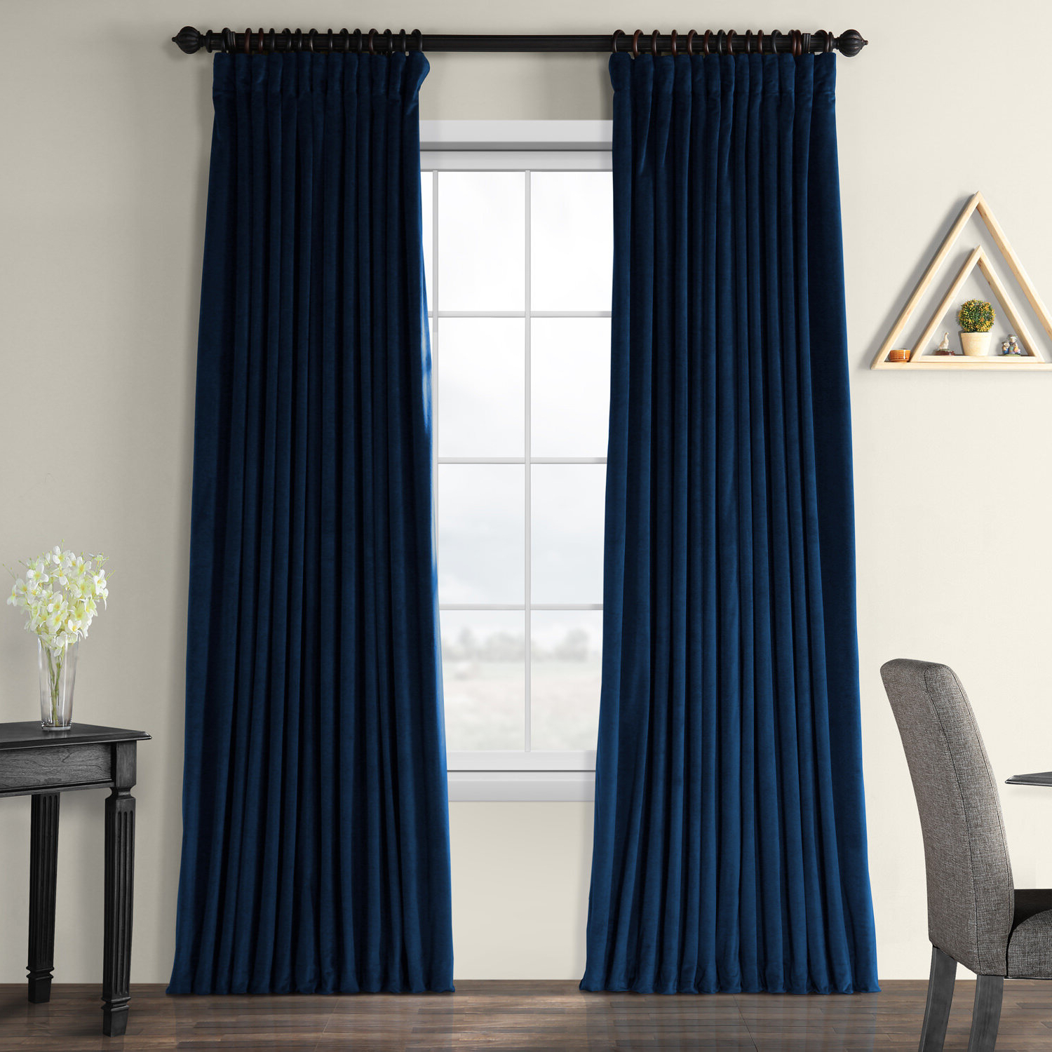 Faux Silk Extra Wide Blackout Single Curtain Panels In Famous Rhinehart Solid Max Blackout Thermal Tab Top Single Curtain Panel (View 17 of 20)