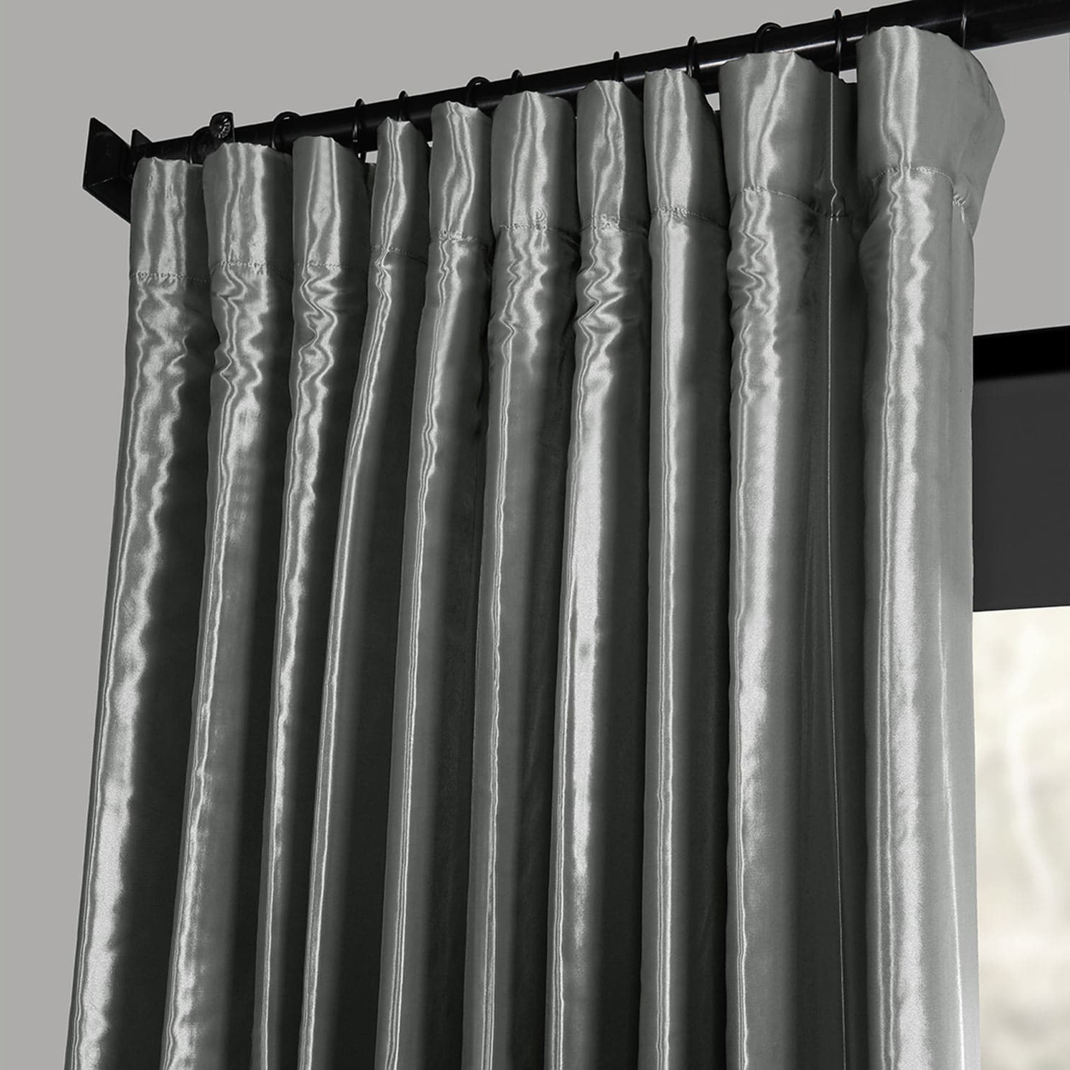Faux Silk Extra Wide Blackout Single Curtain Panels In Widely Used Details About Blackout Extra Wide Faux Silk Taffeta Curtain (Gallery 19 of 20)