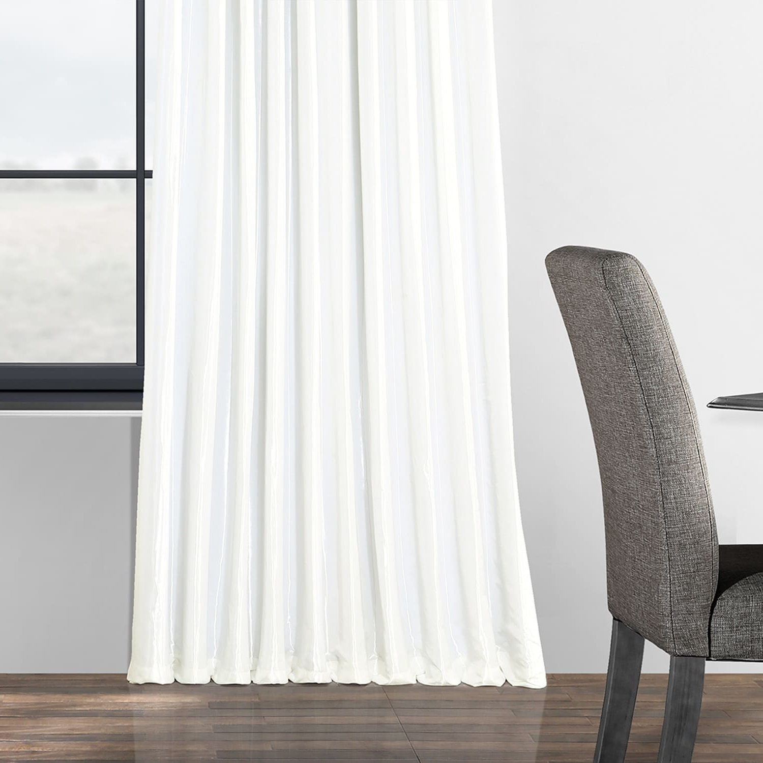 Faux Silk Extra Wide Blackout Single Curtain Panels Pertaining To Fashionable Gleaming Sugar Blackout Extra Wide Faux Silk Taffeta Curtain (Gallery 11 of 20)